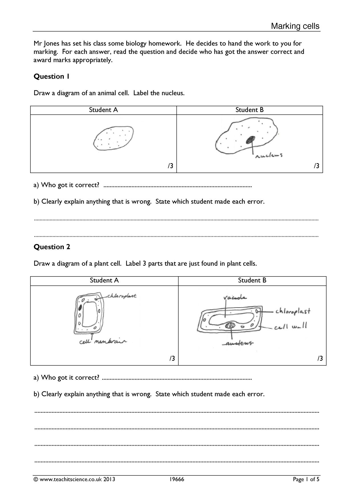 Cells Ks3 Search Results Teachit Science