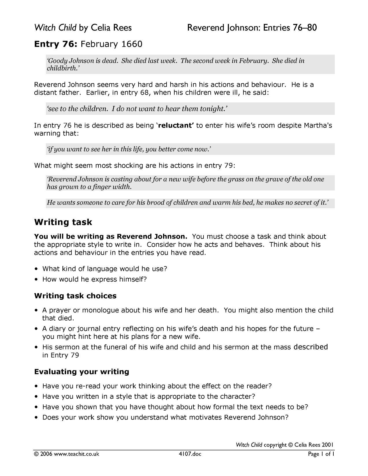 monologue exemplar macbeth new task Gcse english literature assessment objective • the student's response to the task exemplar response lady macbeth describes duncan's entrance as.