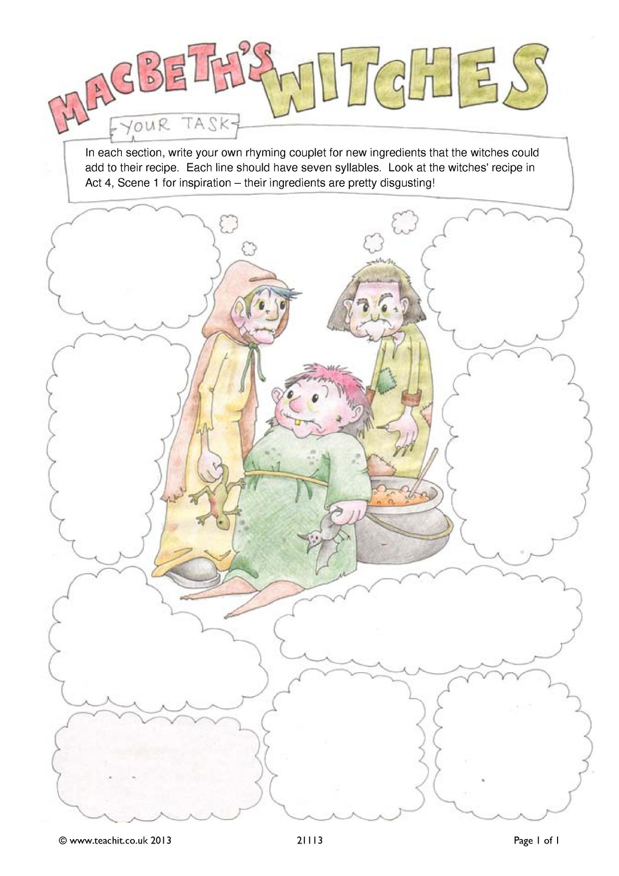 Free Worksheet Macbeth Worksheets macbeth ks3 plays key stage 3 resources 1 preview