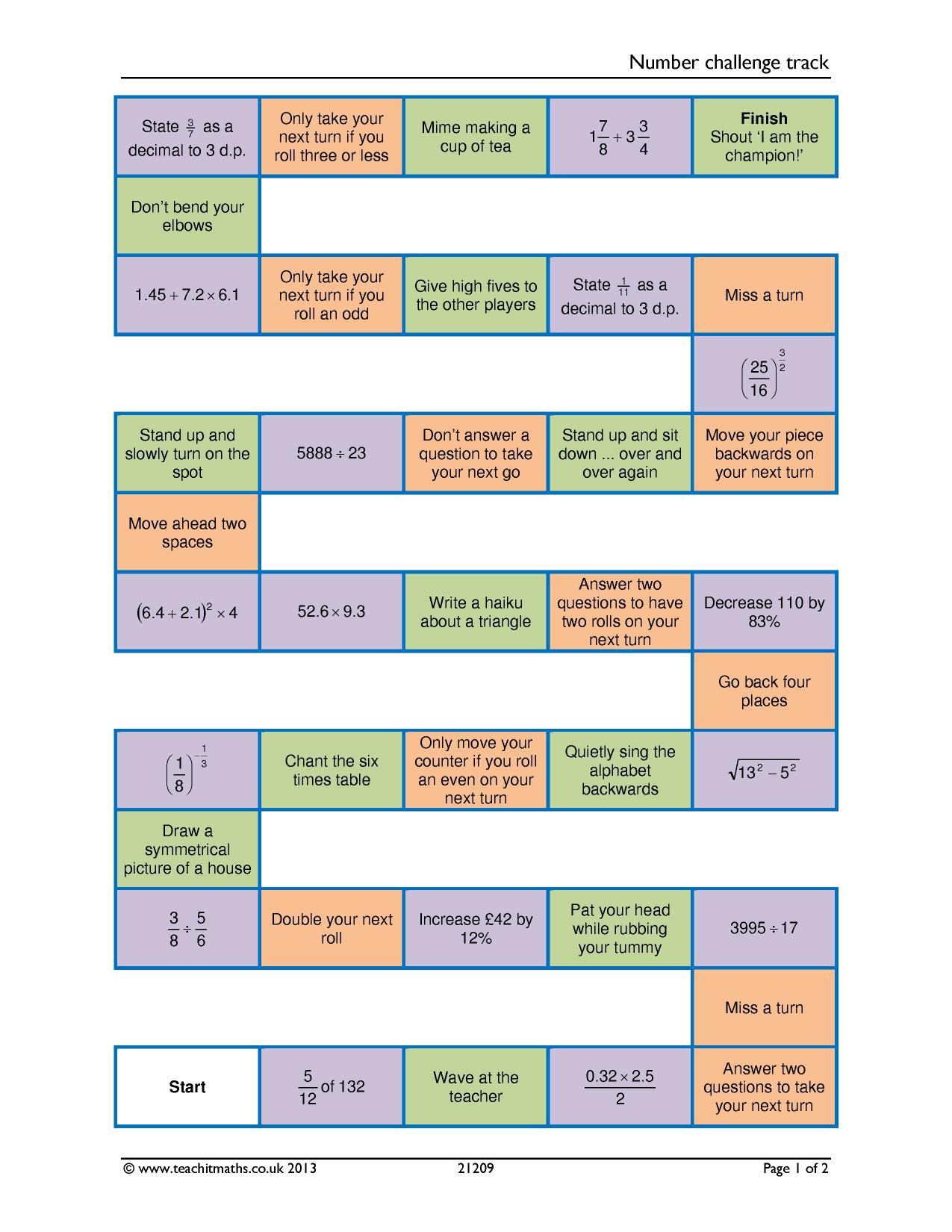 Ks4 puzzles and games teachit maths 6 preview gamestrikefo Image collections