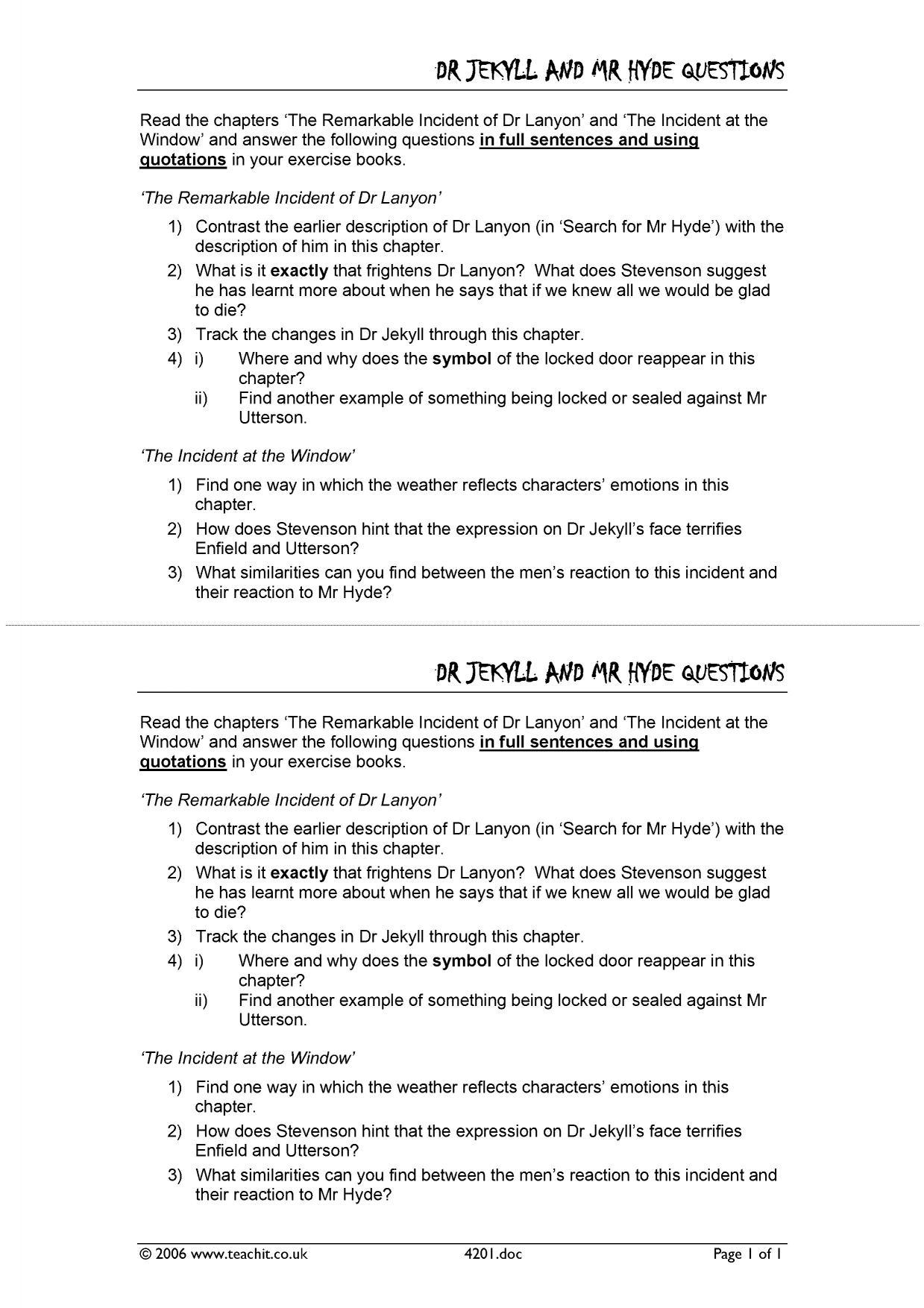 an analysis of the novel the strange case of drjekyll and mr hyde by robert louis stevenson Dr jekyll and mr hyde robert louis stevenson plot overview summary & analysis order the strange case of dr jekyll and mr hyde and other stories at bncom.