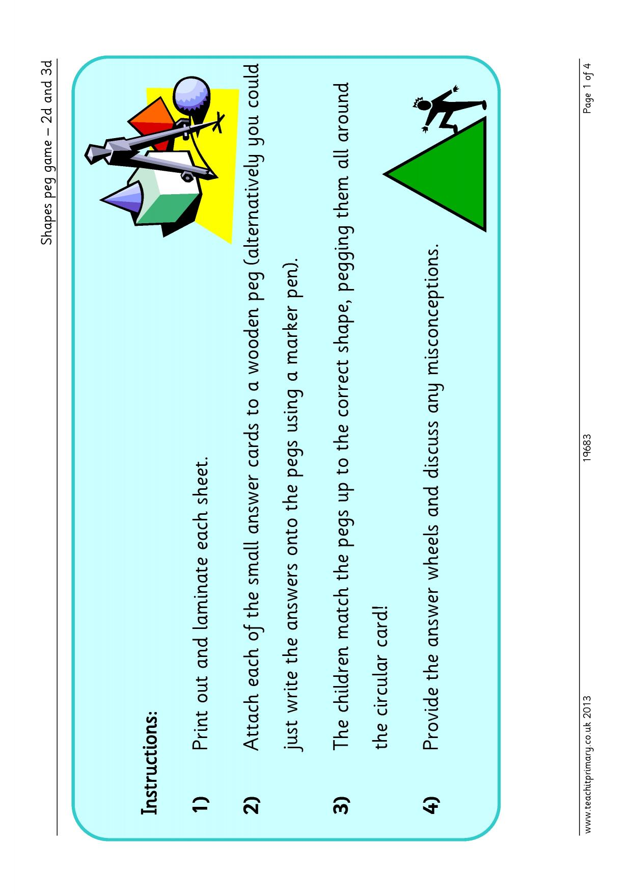 KS2 | Properties of shapes – recognizing, naming and describing ...