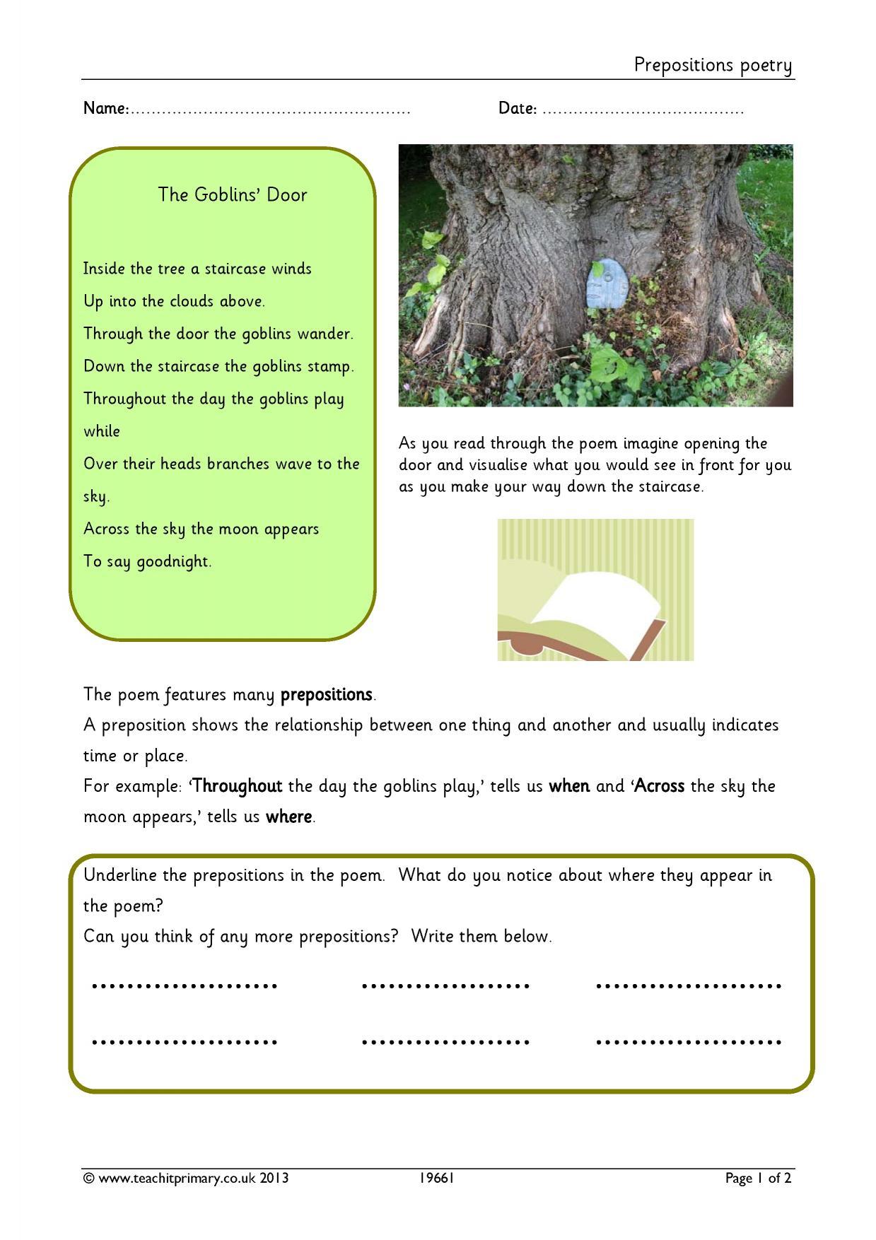 EYFS   KS1   KS2   Poetry - exploring form   Teachit Primary