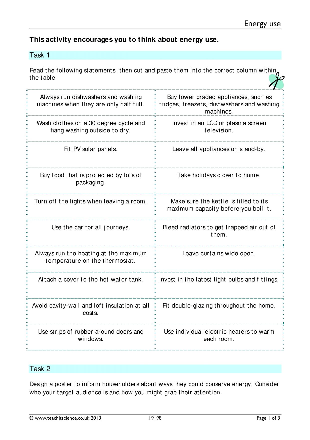 worksheet Wave Equation Worksheet energy ks3 physics science resources 1 preview