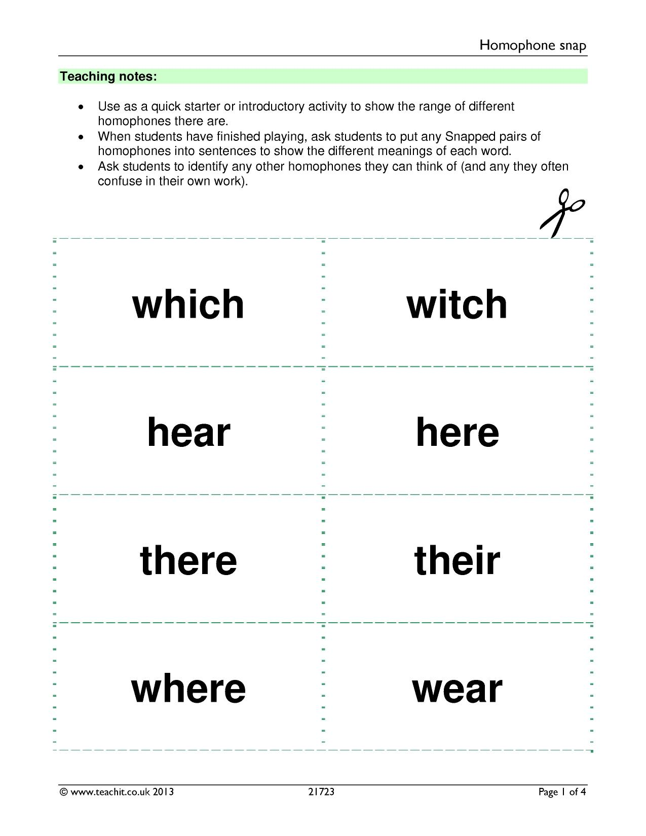 worksheet Homophones Worksheet Pdf spag spelling collection teachit english 12 preview