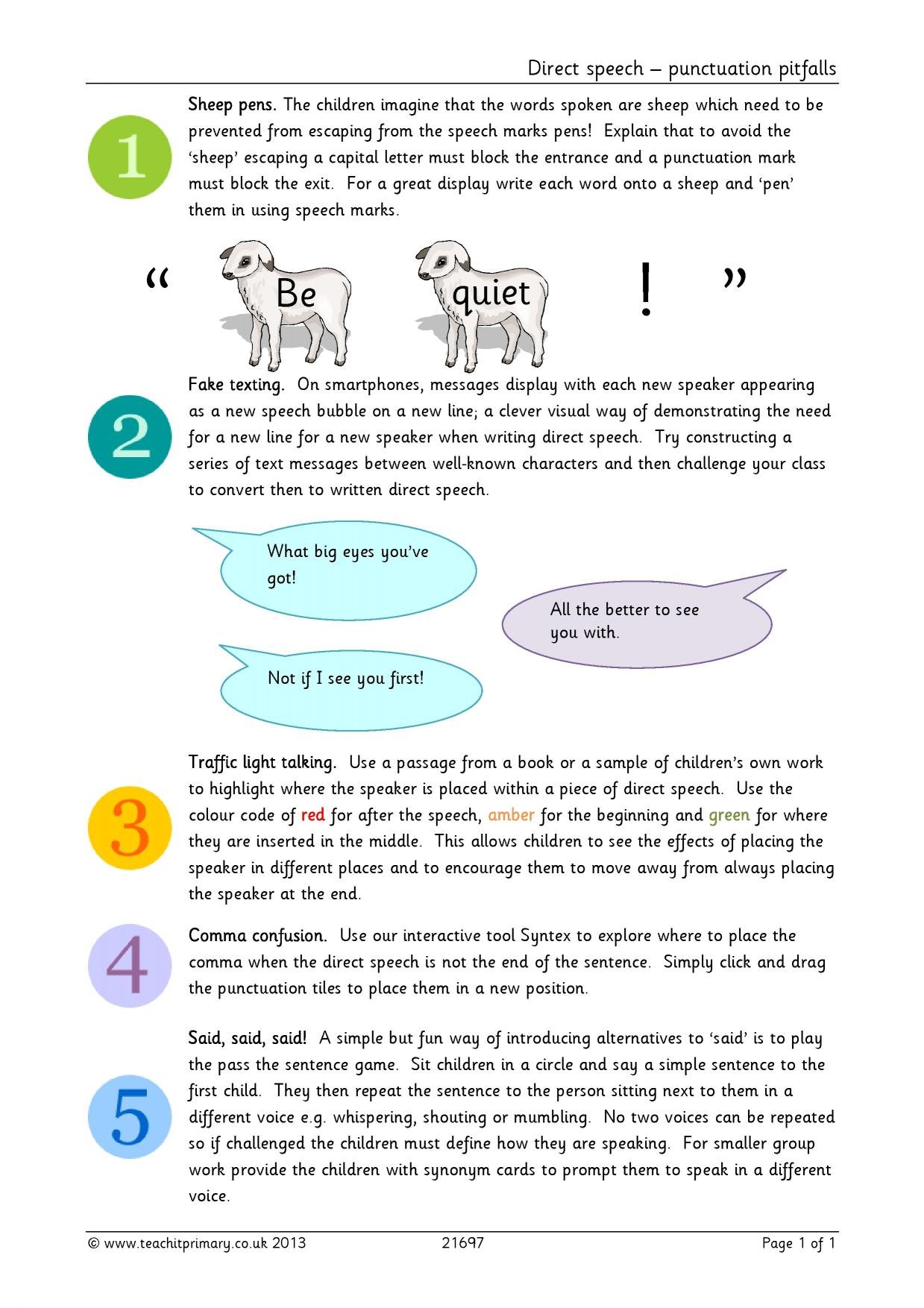 Y3 Y4 | Writing transcription | Vocabulary, punctuation and grammar