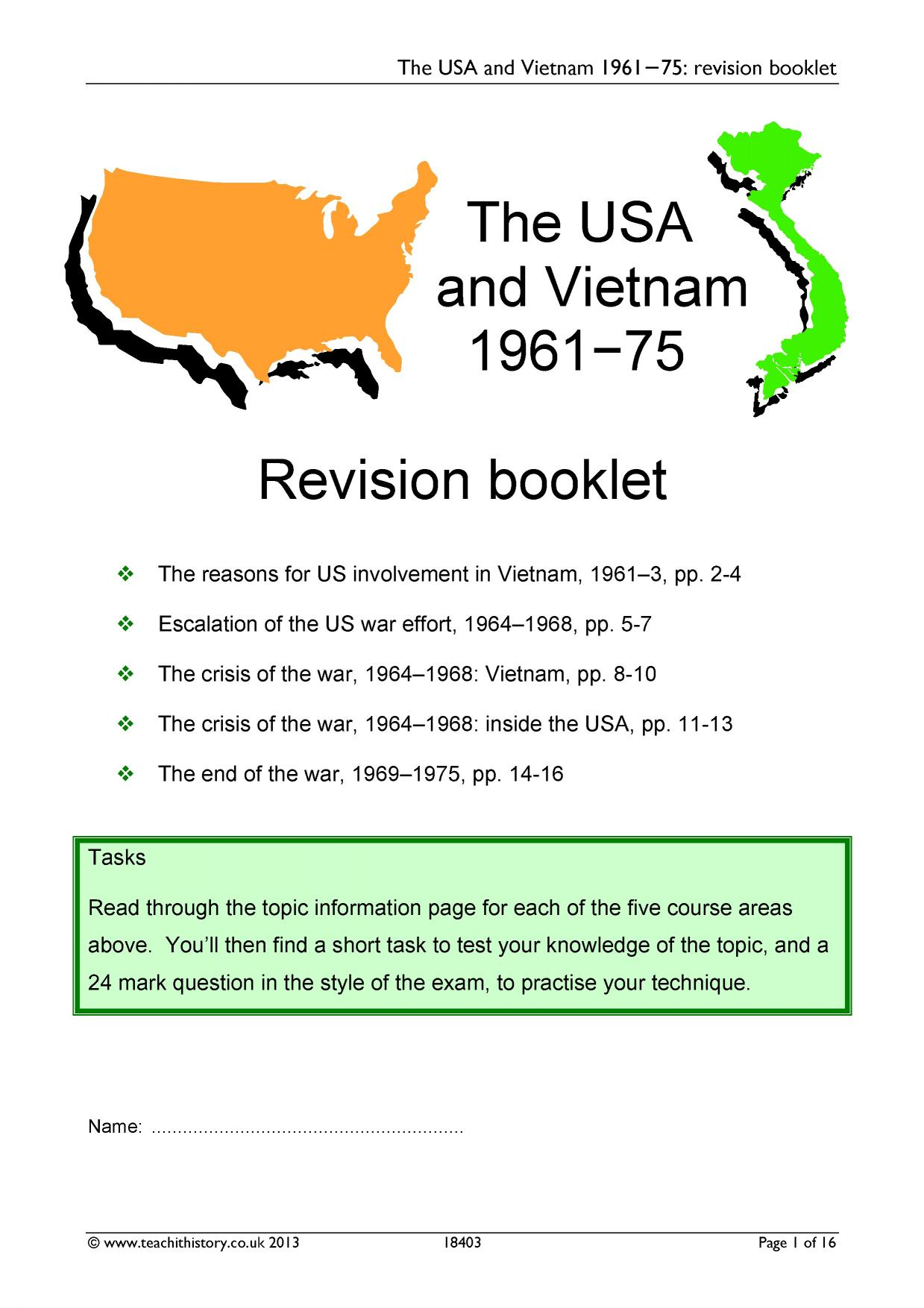 "vietnam revision essay The australian government entered the war in vietnam to secure an  timing"", "" was not one of holt's successful essays in international."