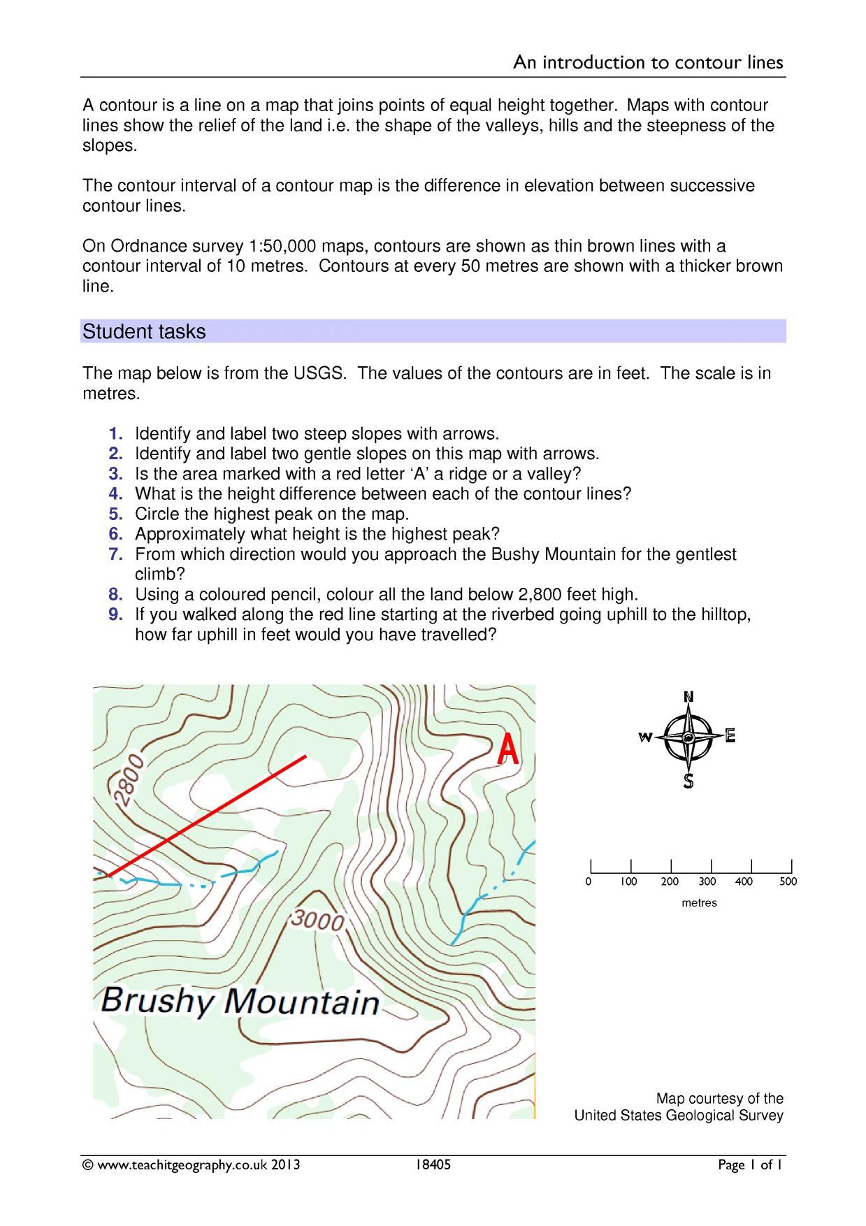 Geography Map Skills Worksheets Ks3 Proga Info
