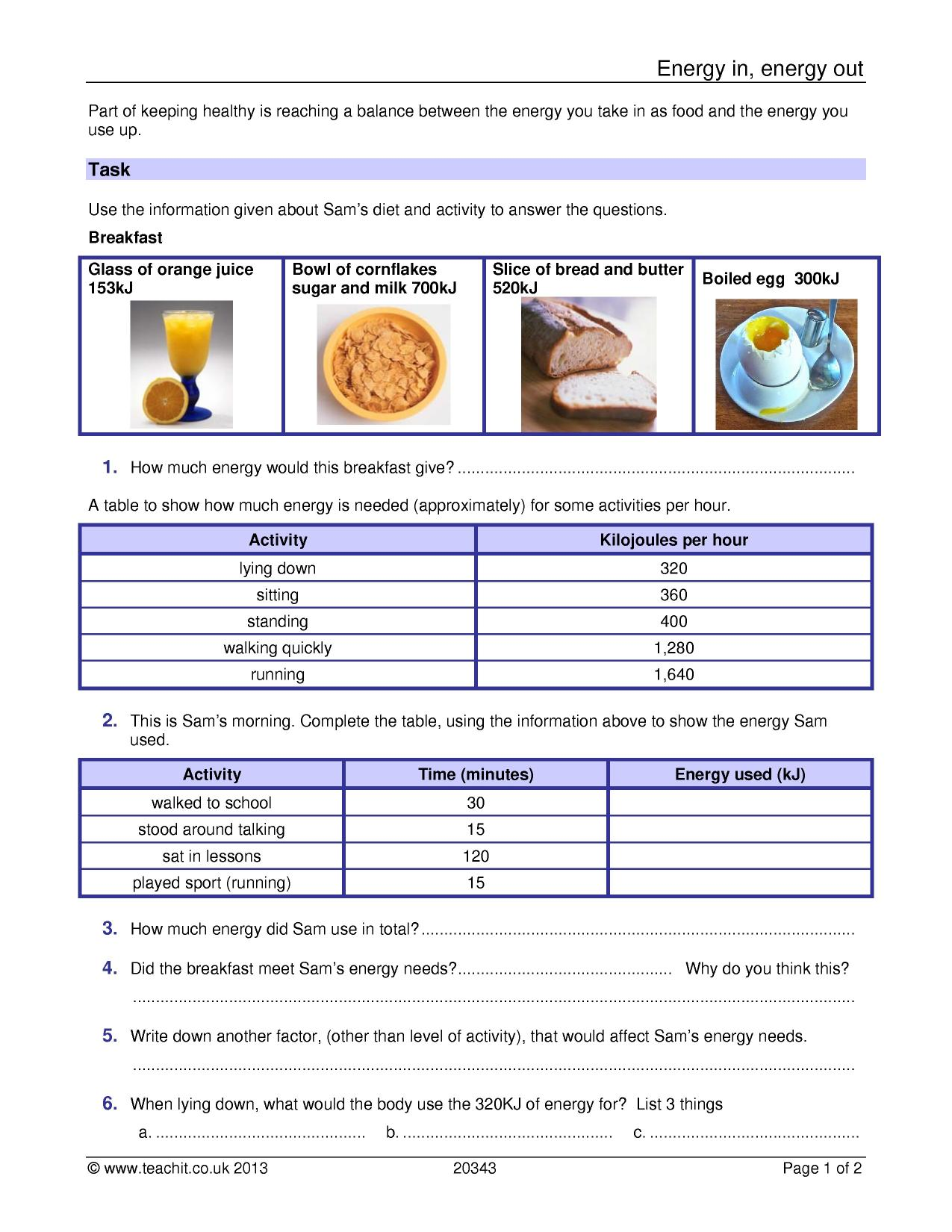 worksheet Key Stage 3 Science Worksheets Free ks3 energy teachit science 1 preview biology