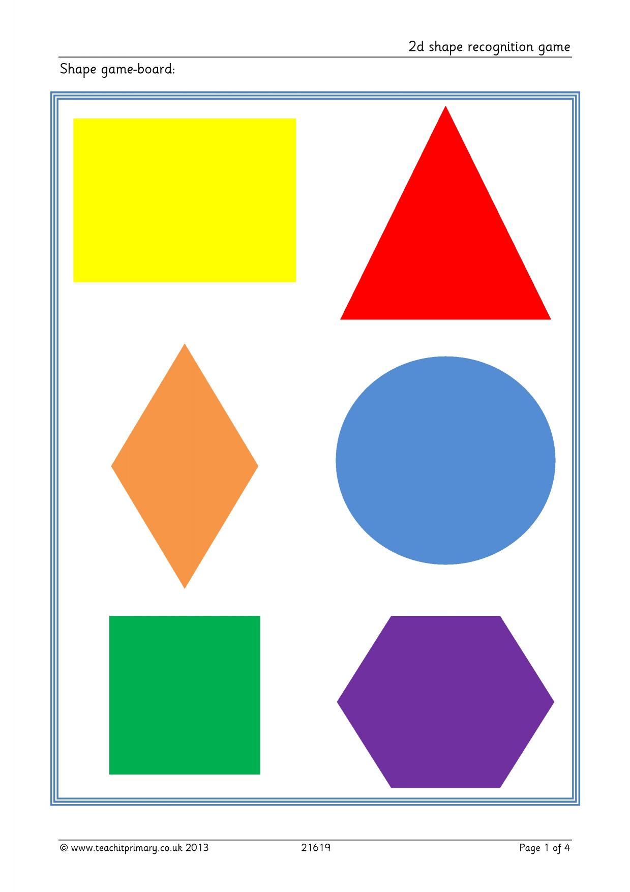 2d shape recognition game - Properties of shapes u2013 recognizing, naming and describing - Geometry ...
