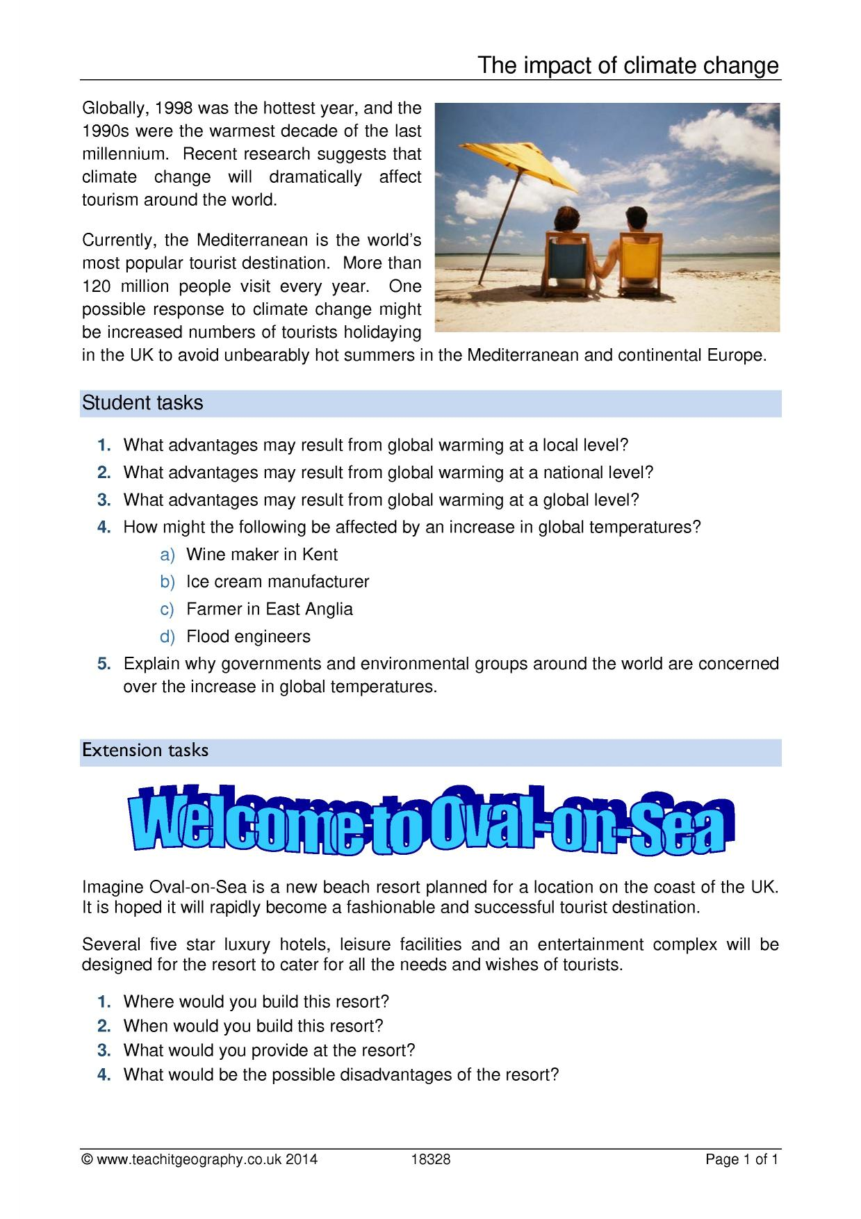 Uncategorized Climate Change Worksheet ks3 climate change teachit geography 0 preview