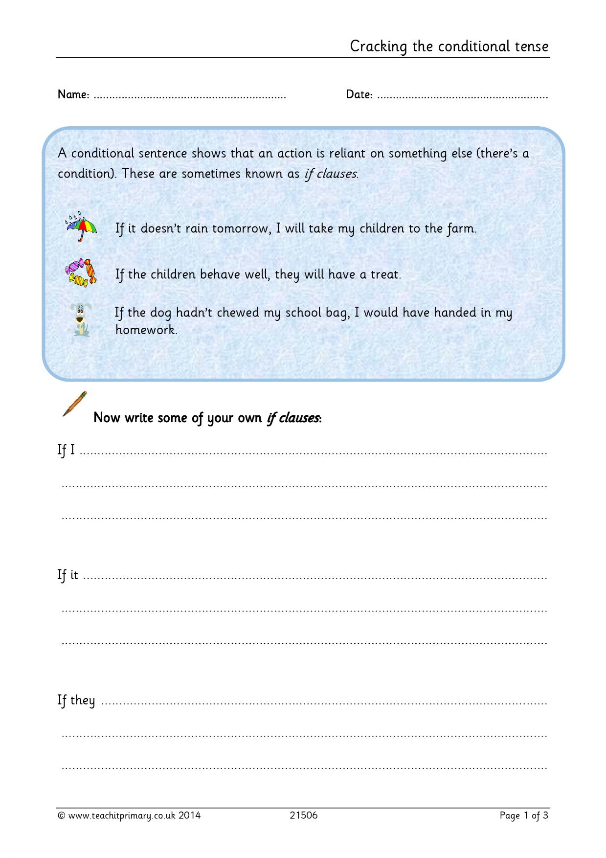 EYFS : KS1 : KS2 : Verb tenses : Teachit Primary