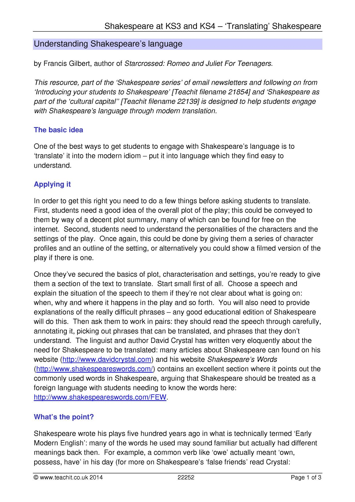 an introduction to the comparison of comedy and tragedy by william shakespeare Introduction to the tragedy of romeo and juliet the tragedy of romeo and juliet , a tragic play by william shakespeare, is the story of two star-crossed lovers who are plagued by the hatred and detestation of their respective families.