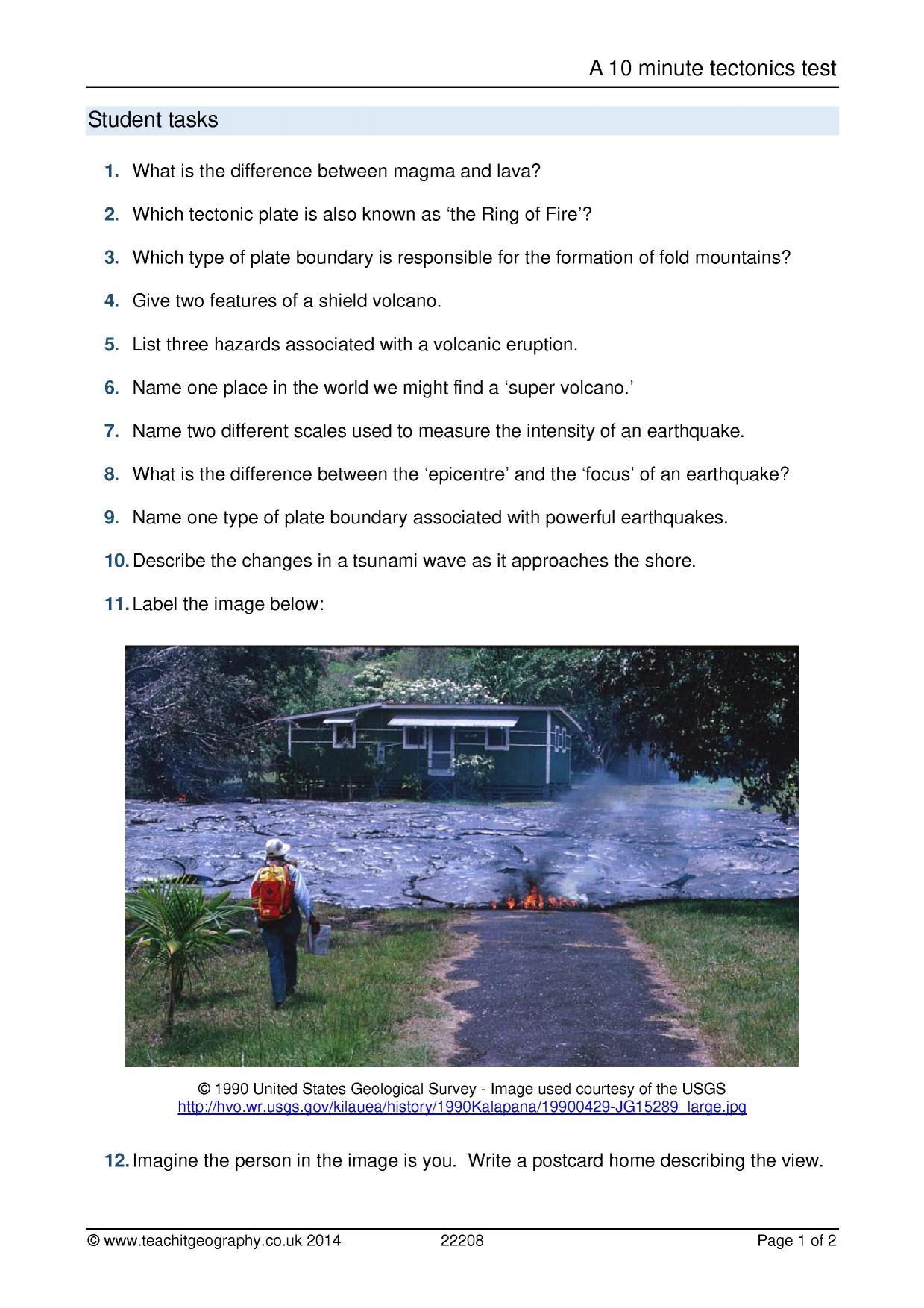 Teaching earthquakes ks3