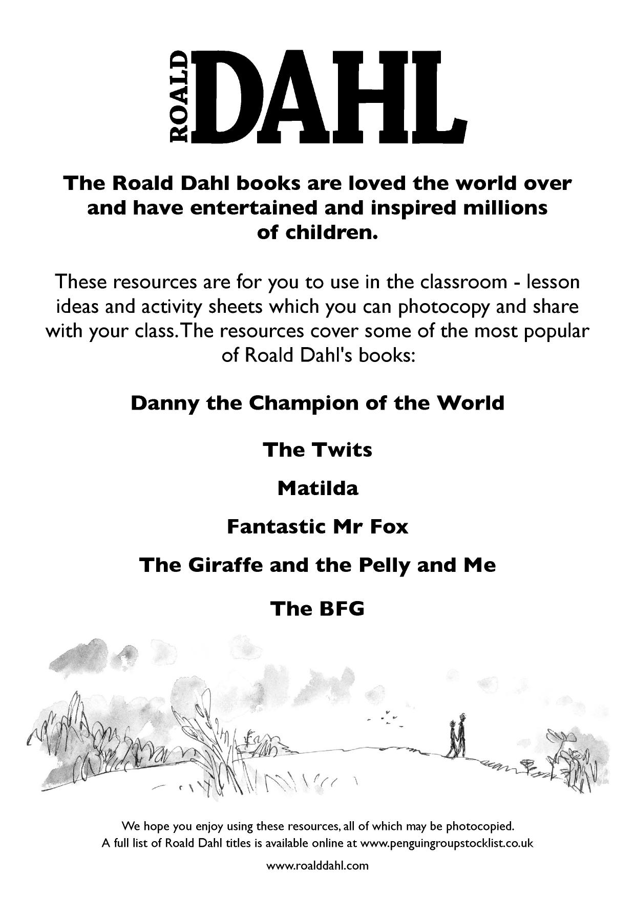 worksheet Danny Champion Of The World Worksheets books by roald dahl search results teachit primary 3 preview