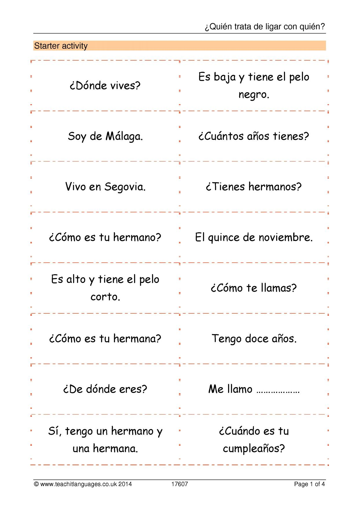 Ks3 Spanish Introductions And Greetings Teachit Languages