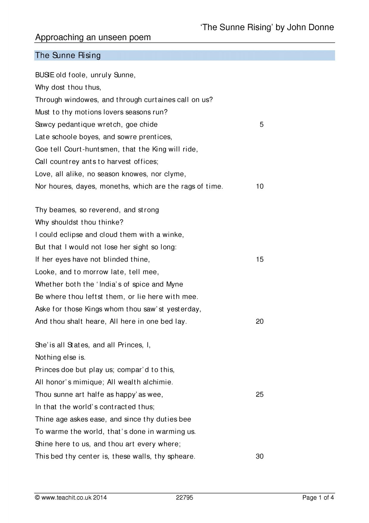 donne john ks3 poetry key stage 3 resources 0 preview
