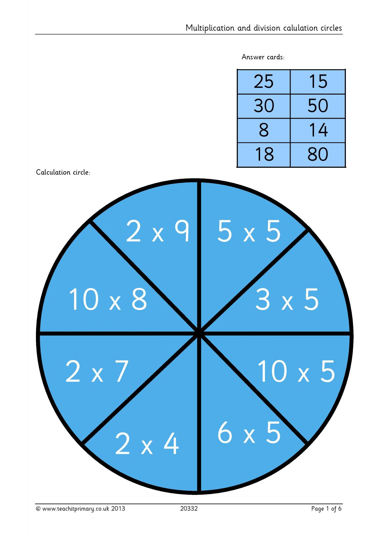 KS2 | Challenging multiplication and division | Teachit Primary