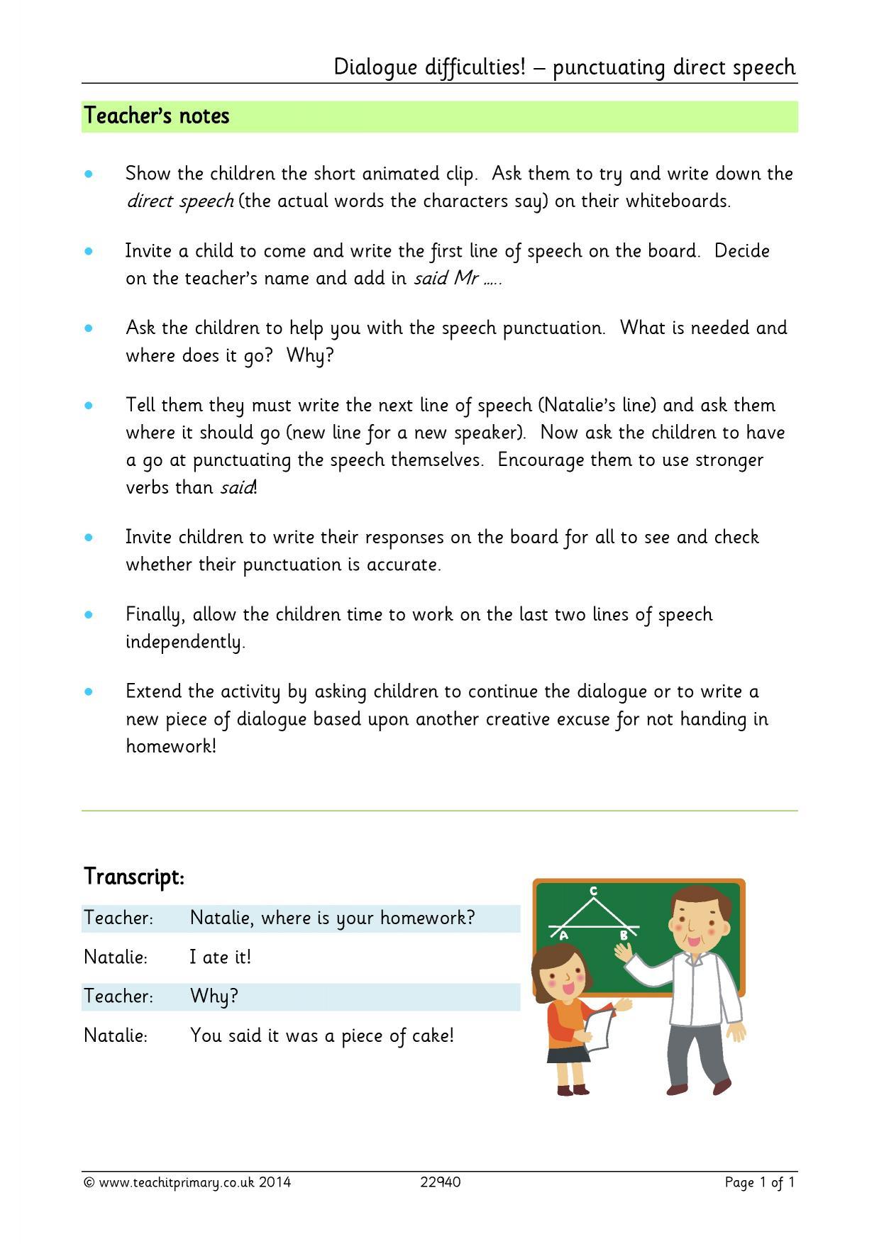 Free punctuation worksheets ks2