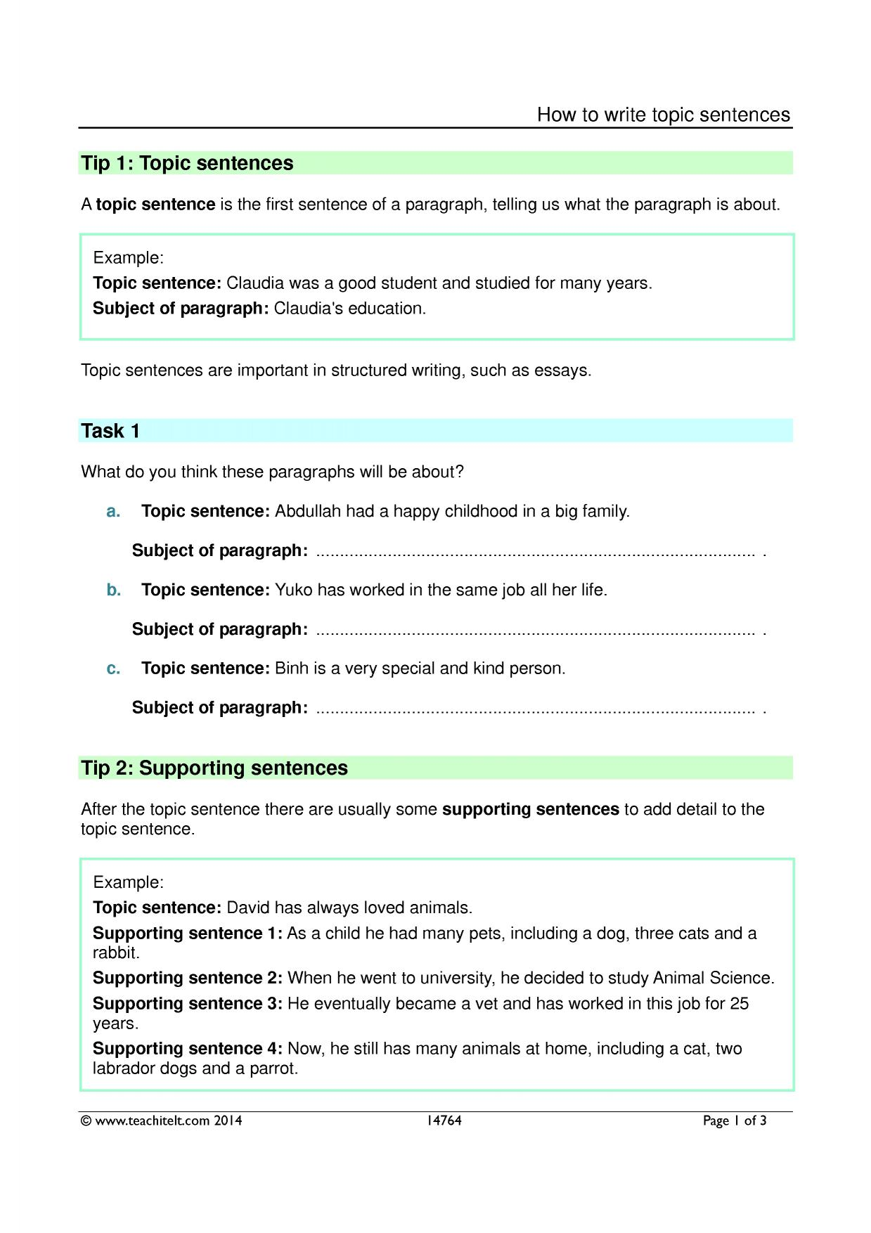 how to write a resource page