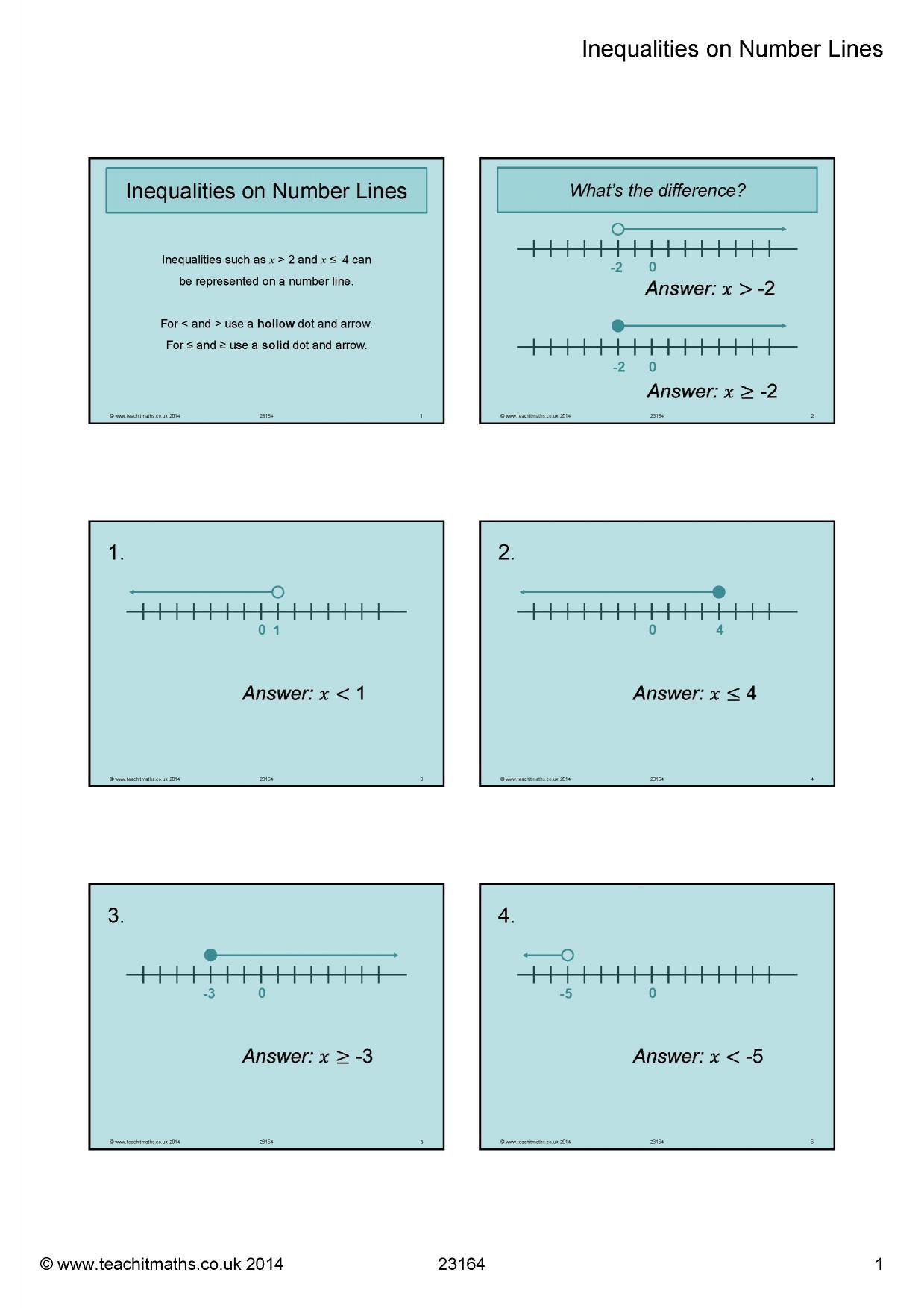 Inequalities | Teachit Maths