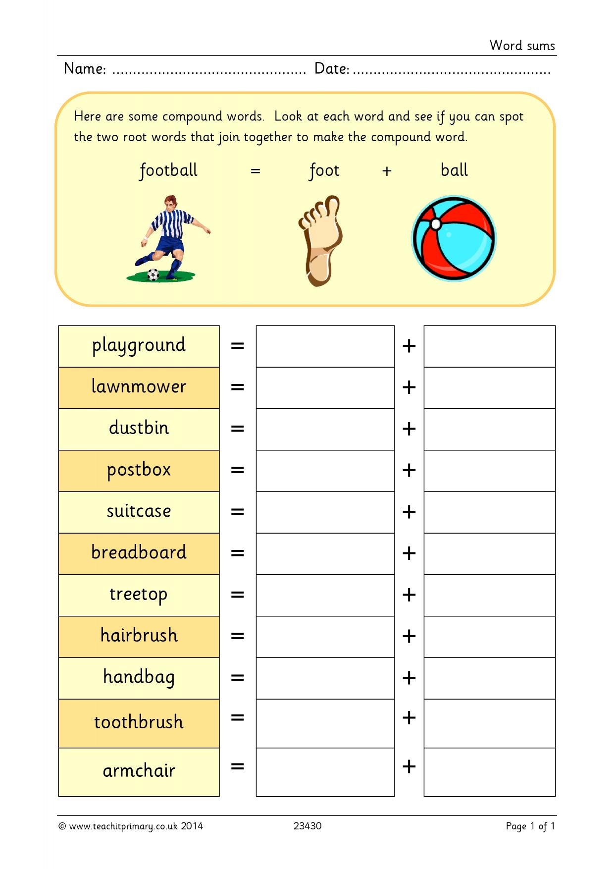 Word sums - Spelling for beginners - Home page