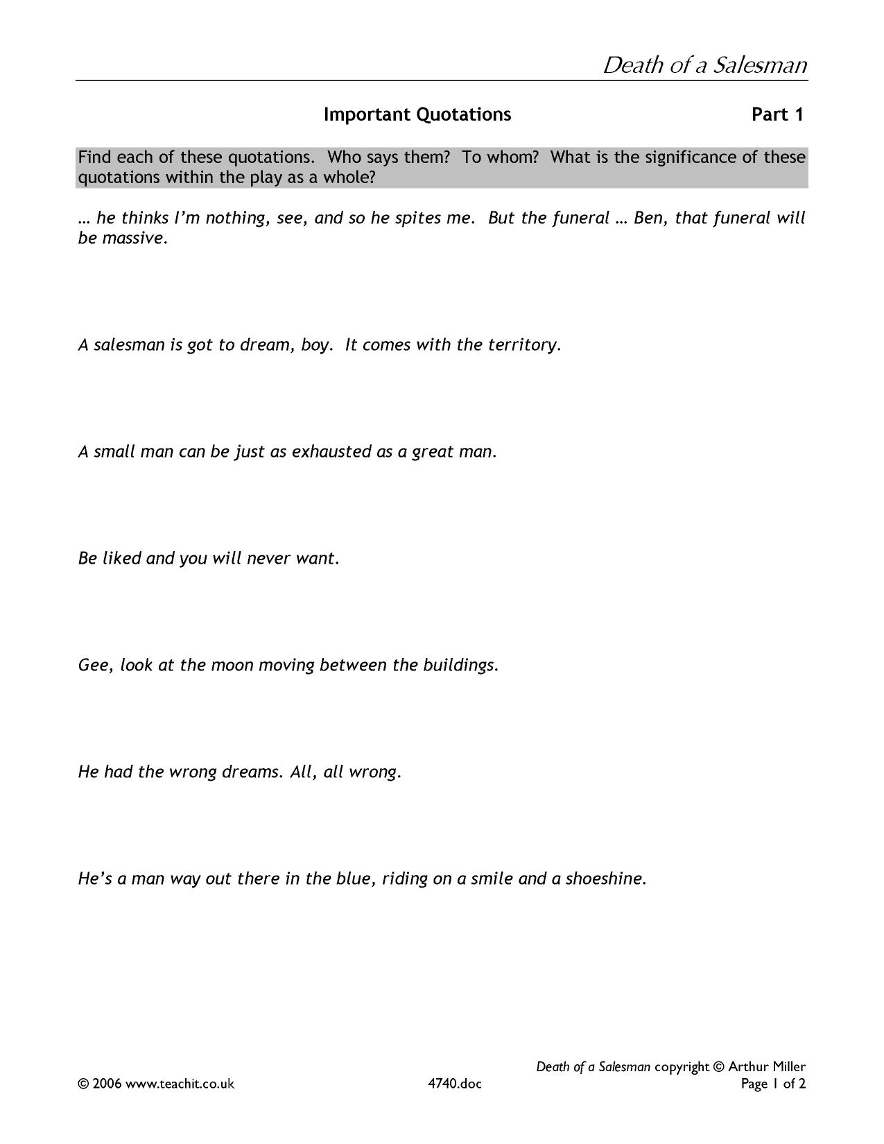 death of a sman essay questions death of a sman by arthur  death of a sman by arthur miller ks plays key stage 1 preview essay question generator