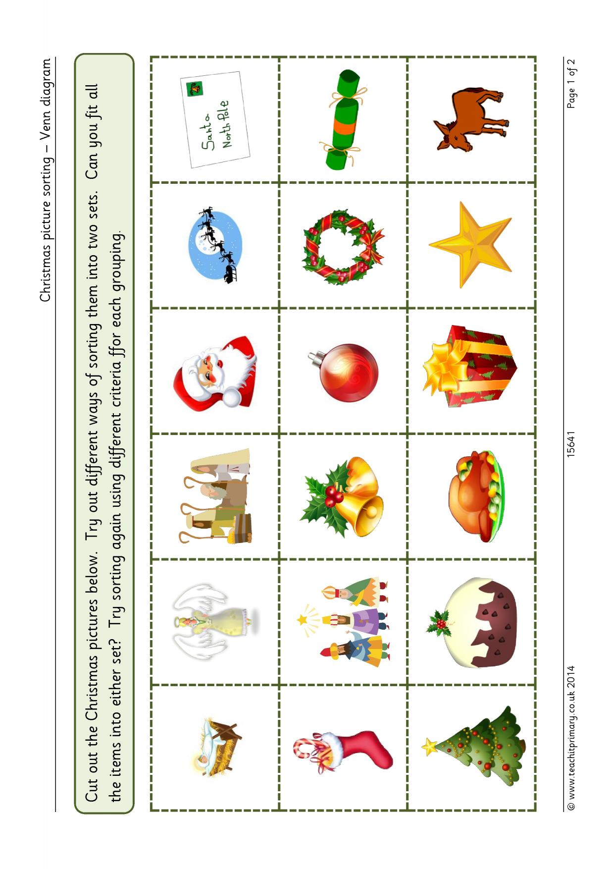Christmas picture sorting venn diagram graphs and charts resource thumbnail pooptronica