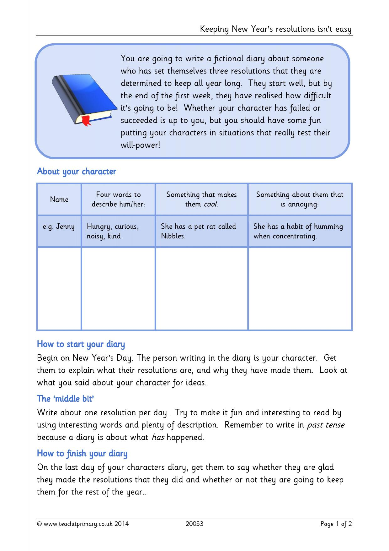 Ks2 diaries teachit primary 1 preview pronofoot35fo Gallery