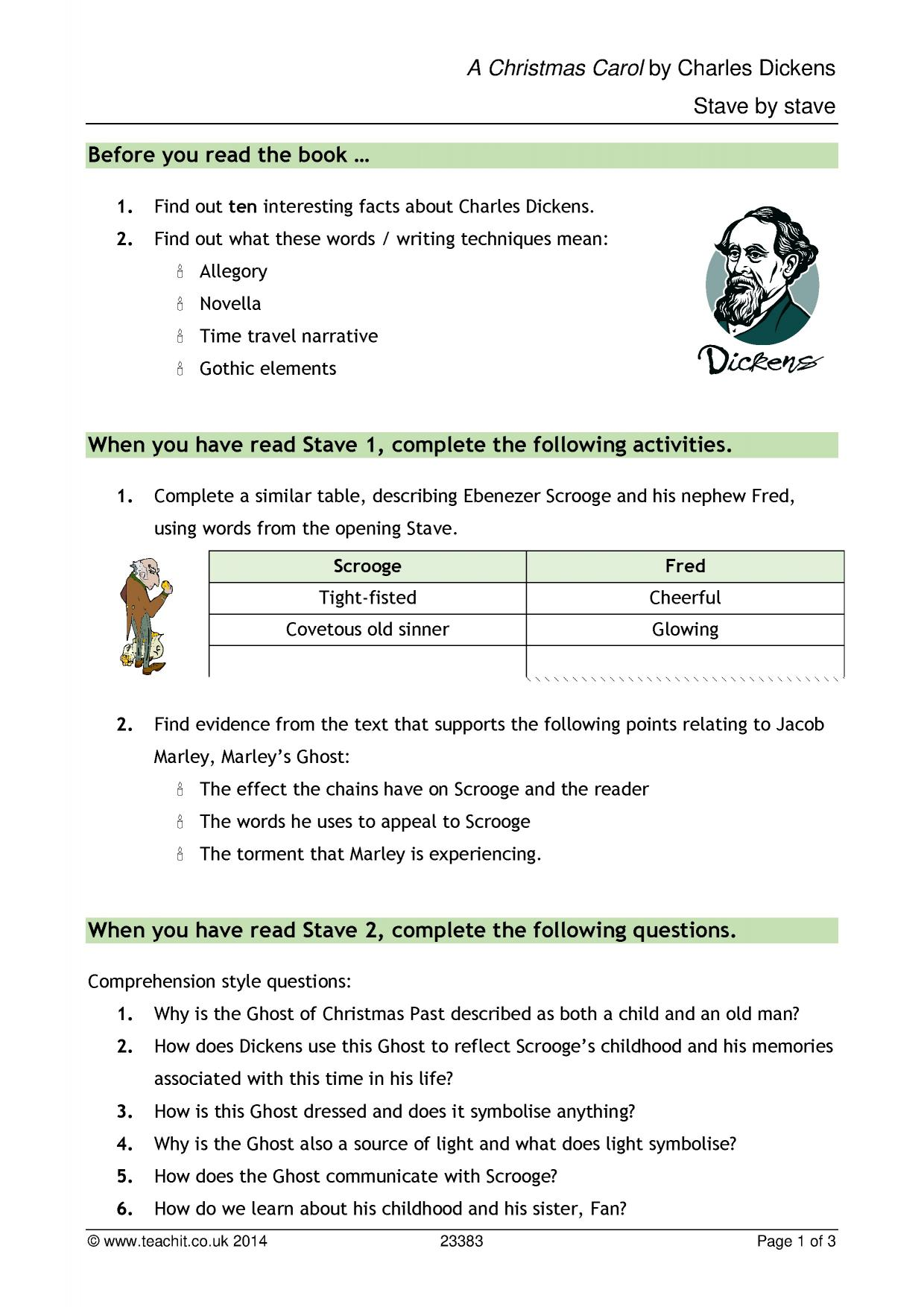 Solving Linear Equations Worksheets Ks  A Christmas Carol By Charles Dickens  Teachit English 6th Grade Area And Perimeter Worksheets with Worksheet Volume Of Prisms Excel  Preview Number 2 Worksheets