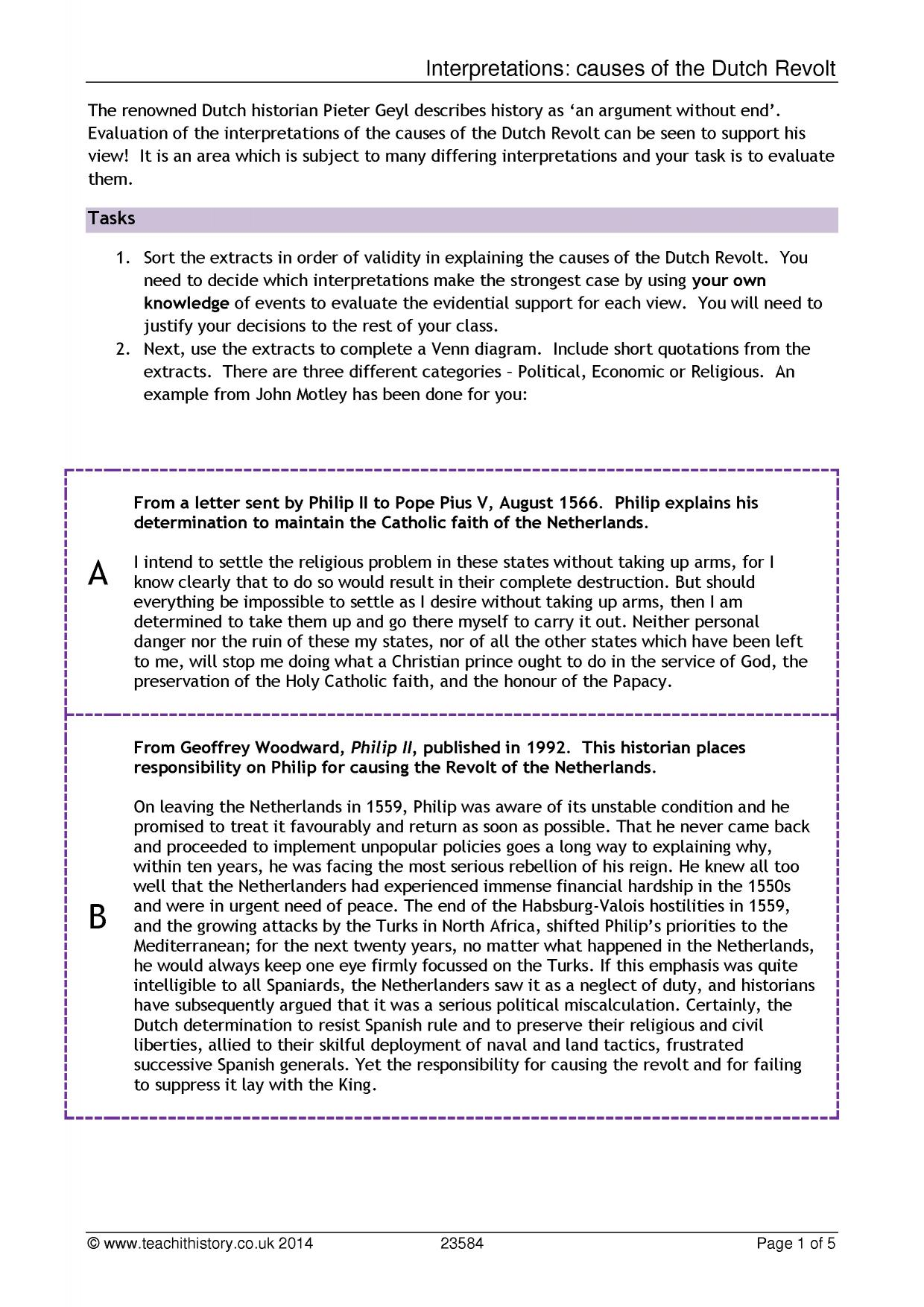 Worksheets Causes Of The Civil War Worksheet history teaching resources on interpretation teachit 0 preview