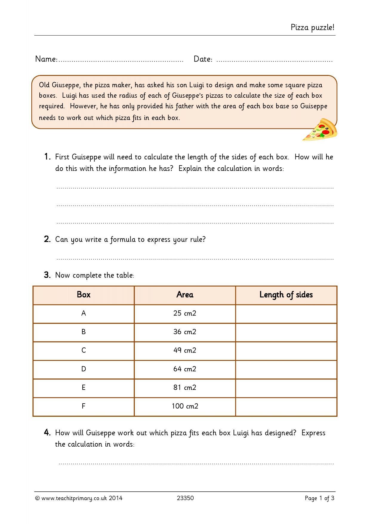 KS2 | Algebra | Teachit Primary