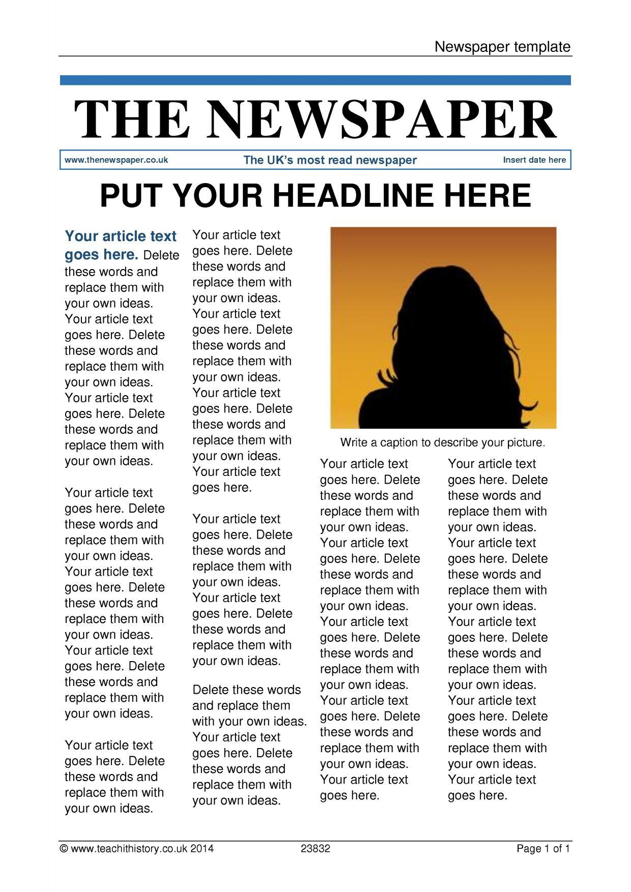 news report template