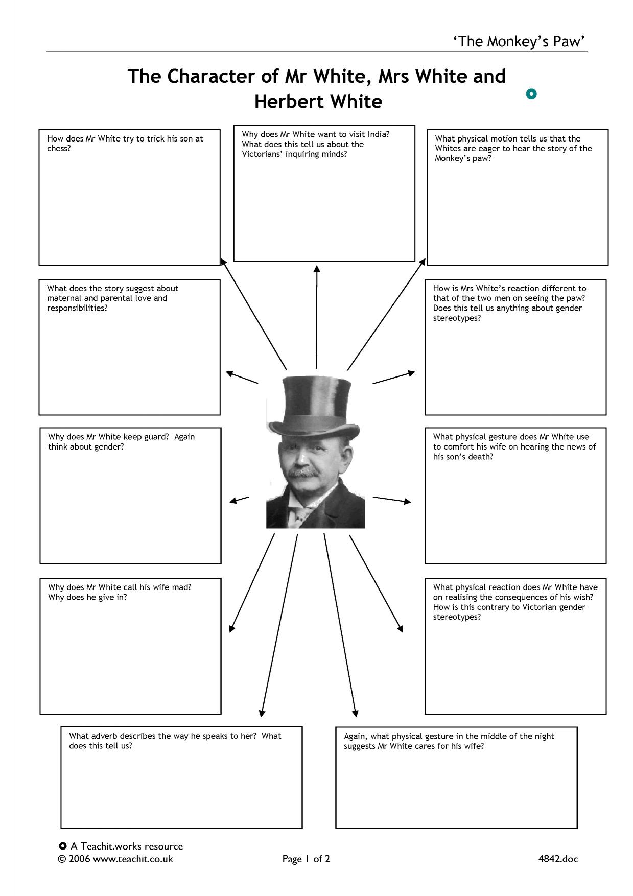 the monkeys paw 2 essay From a general summary to chapter summaries to explanations of famous quotes, the sparknotes the monkey's paw study guide has everything you need to ace quizzes, tests, and essays.