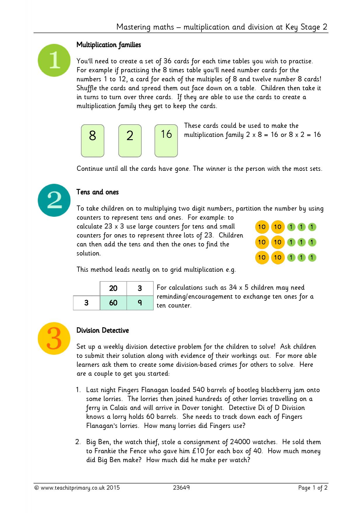 Division worksheets ks2 primary resources
