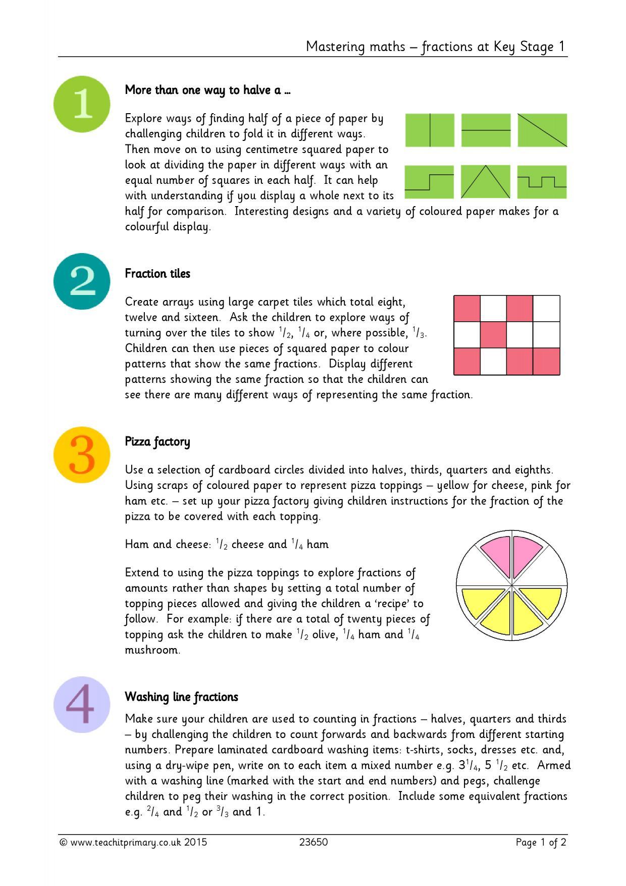 mastering maths fractions at key stage 1 basic fractions home page. Black Bedroom Furniture Sets. Home Design Ideas