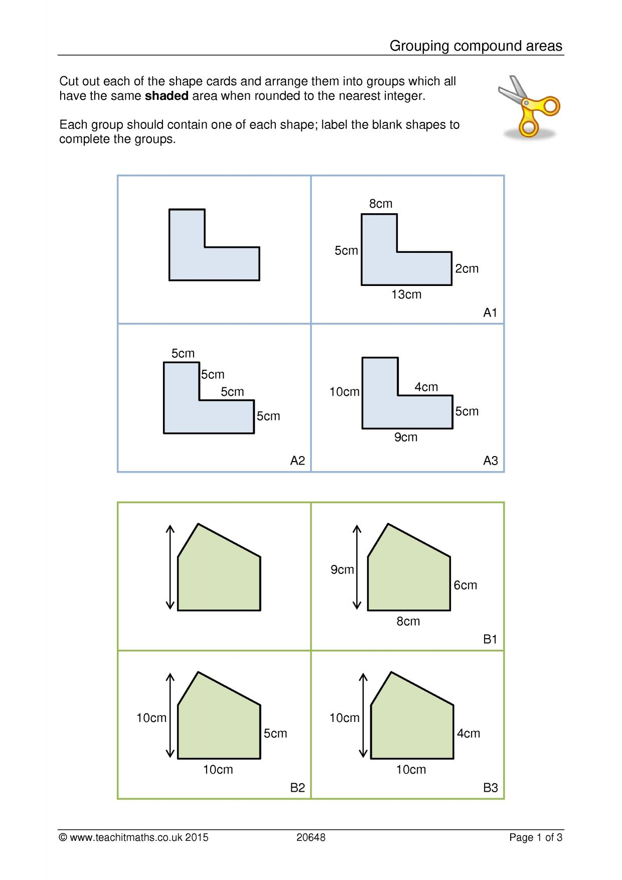 Perimeter of compound shapes worksheet ks3
