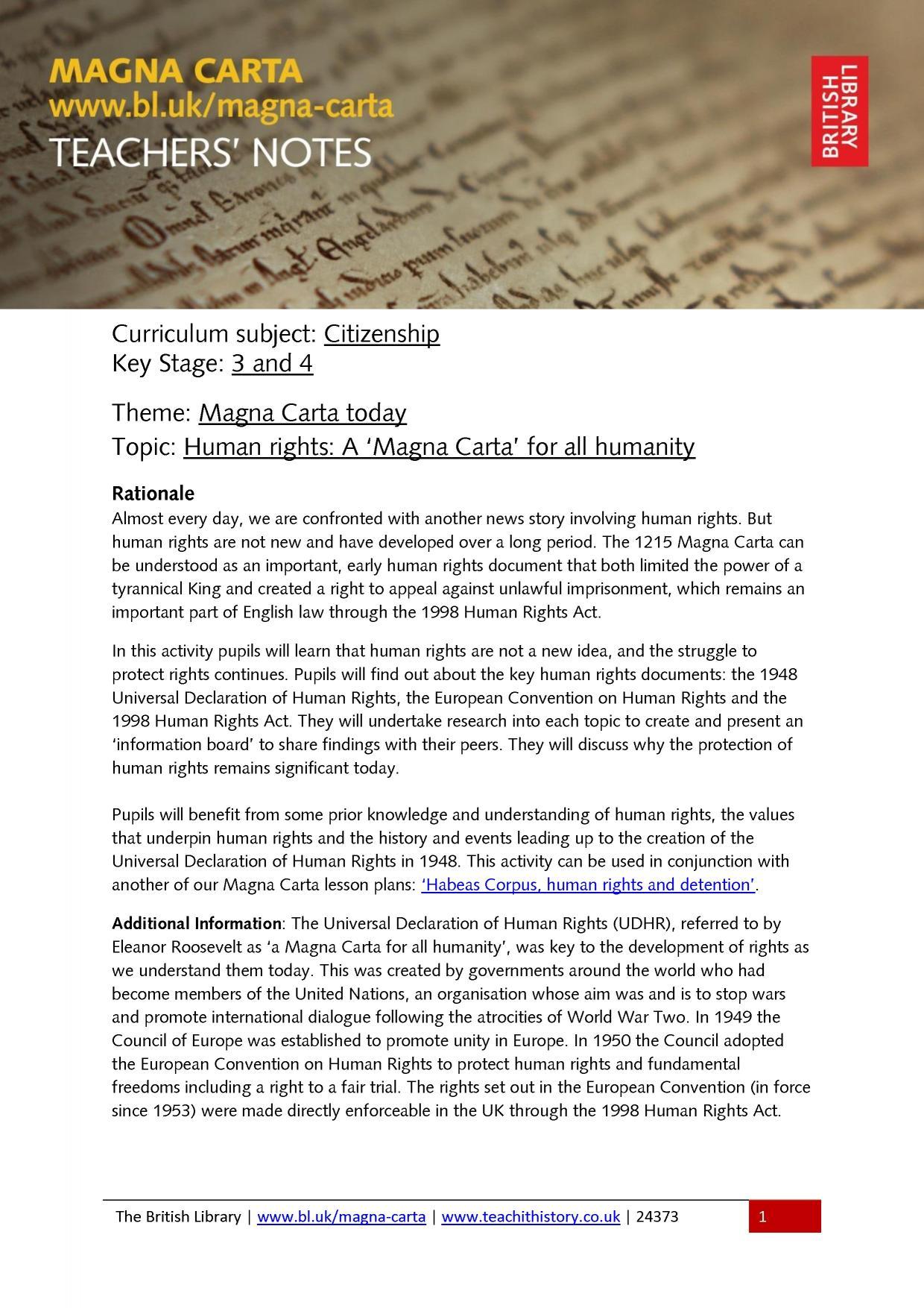 Worksheets Magna Carta Worksheet ks3 british library magna carta resources teachit history 0 preview