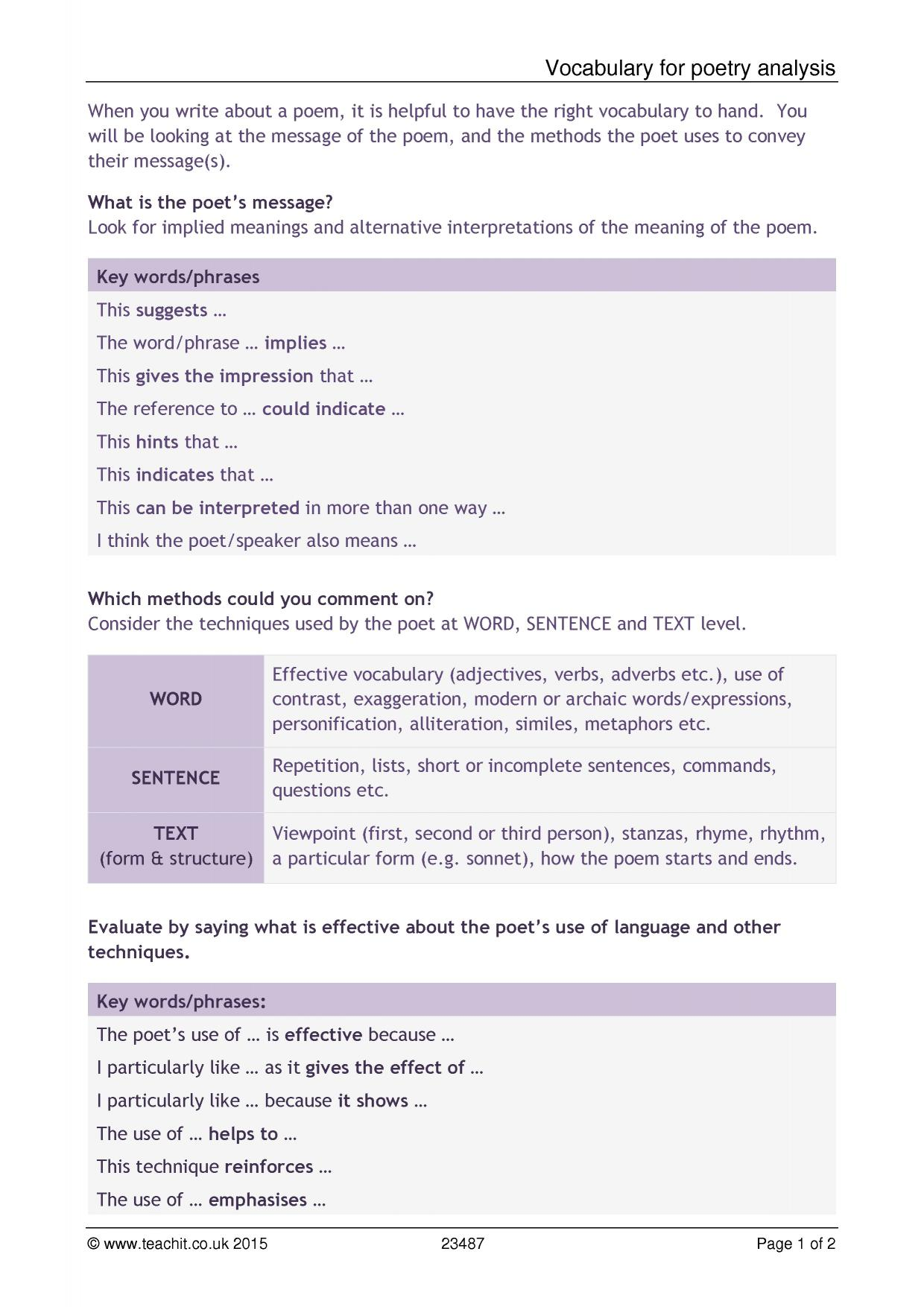 Ks4 unseen poetry teachit english 4 preview robcynllc Images