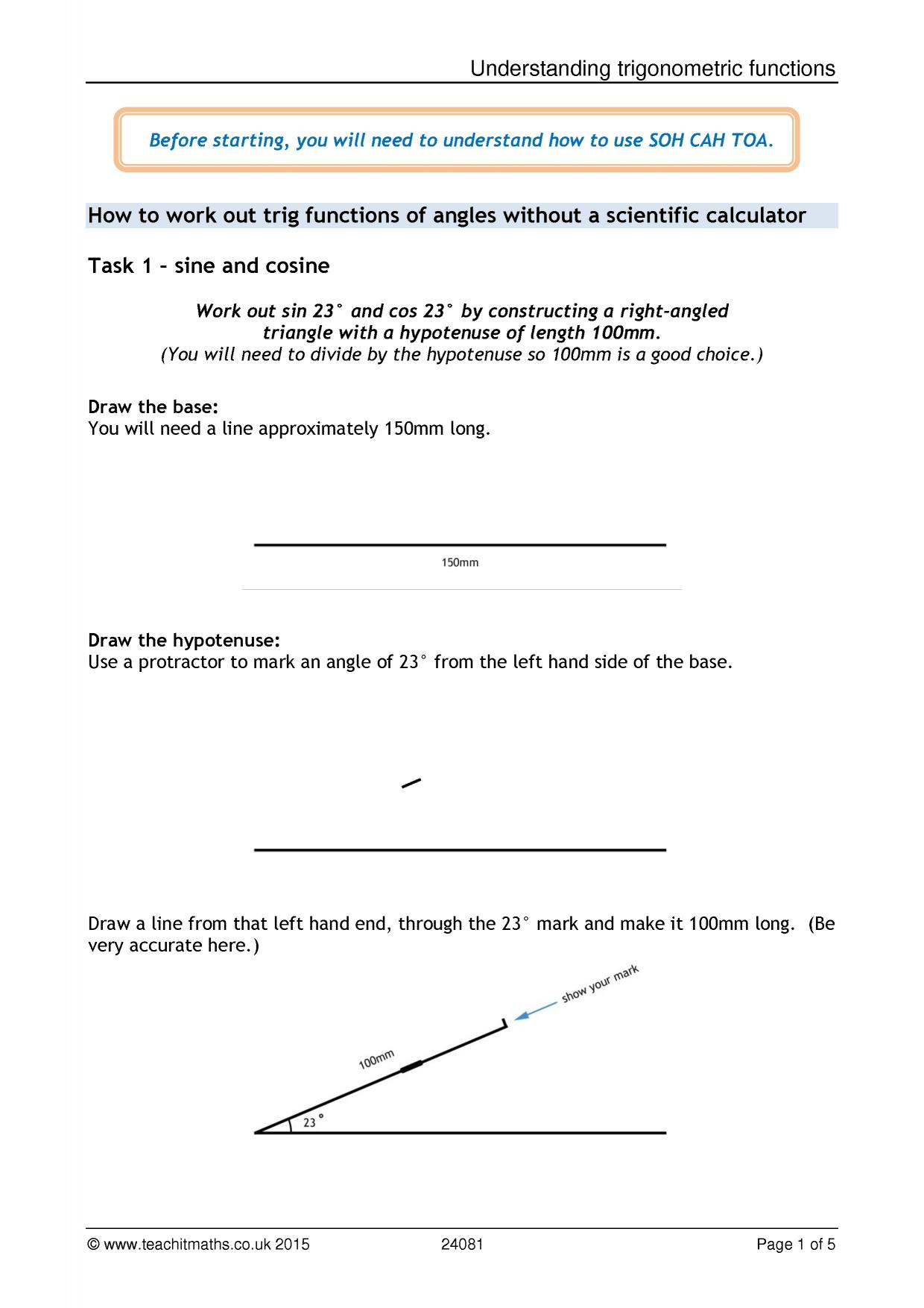 Trigonometry rich task array ks4 geometry and measure trigonometry u2013 sohcahtoa teachit maths rh teachitmaths fandeluxe Gallery