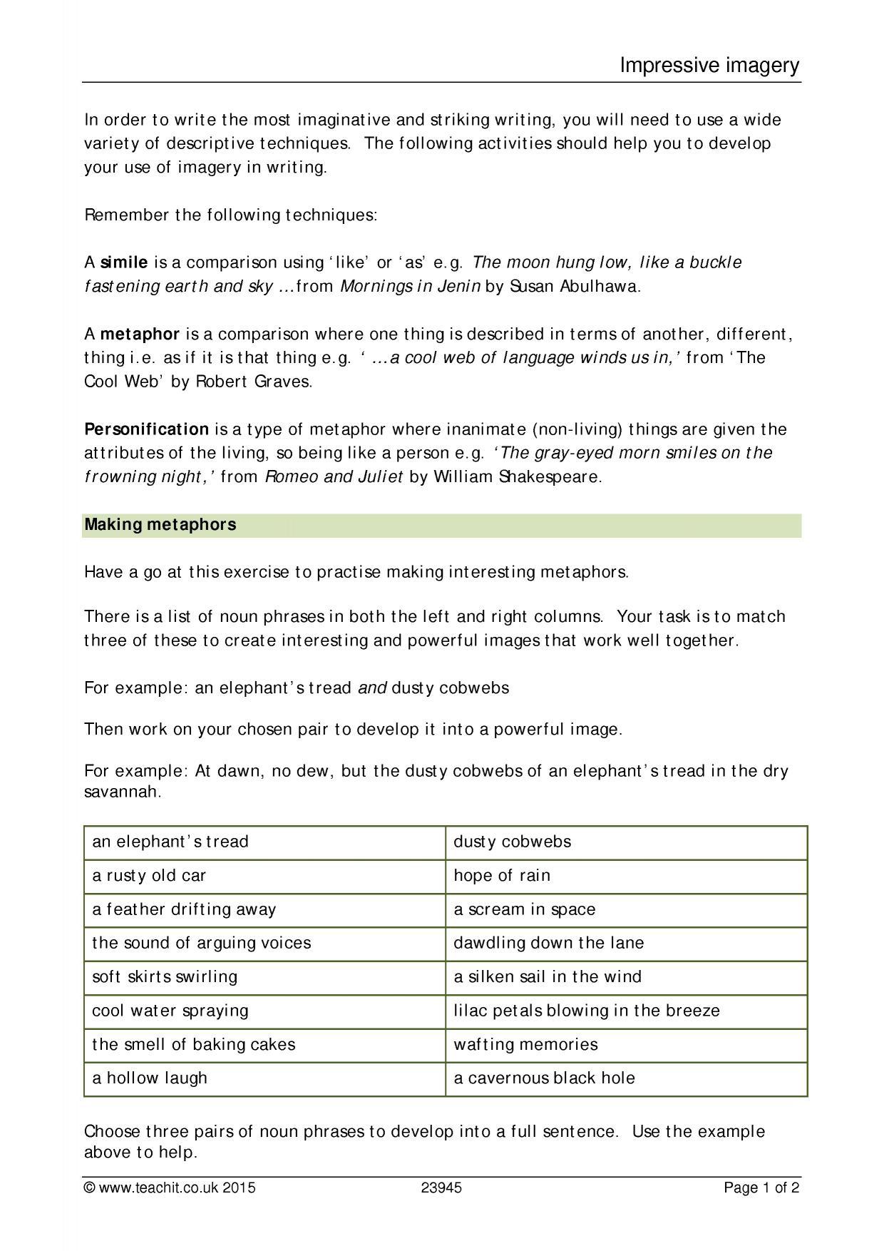 Example Essay Argumentative Writing  Preview Ks  Writing Academic Argument Essay Example also Gun Control Essay Conclusion Ks  Descriptive Writing  Teachit English Sample Of Reflective Essay In Nursing