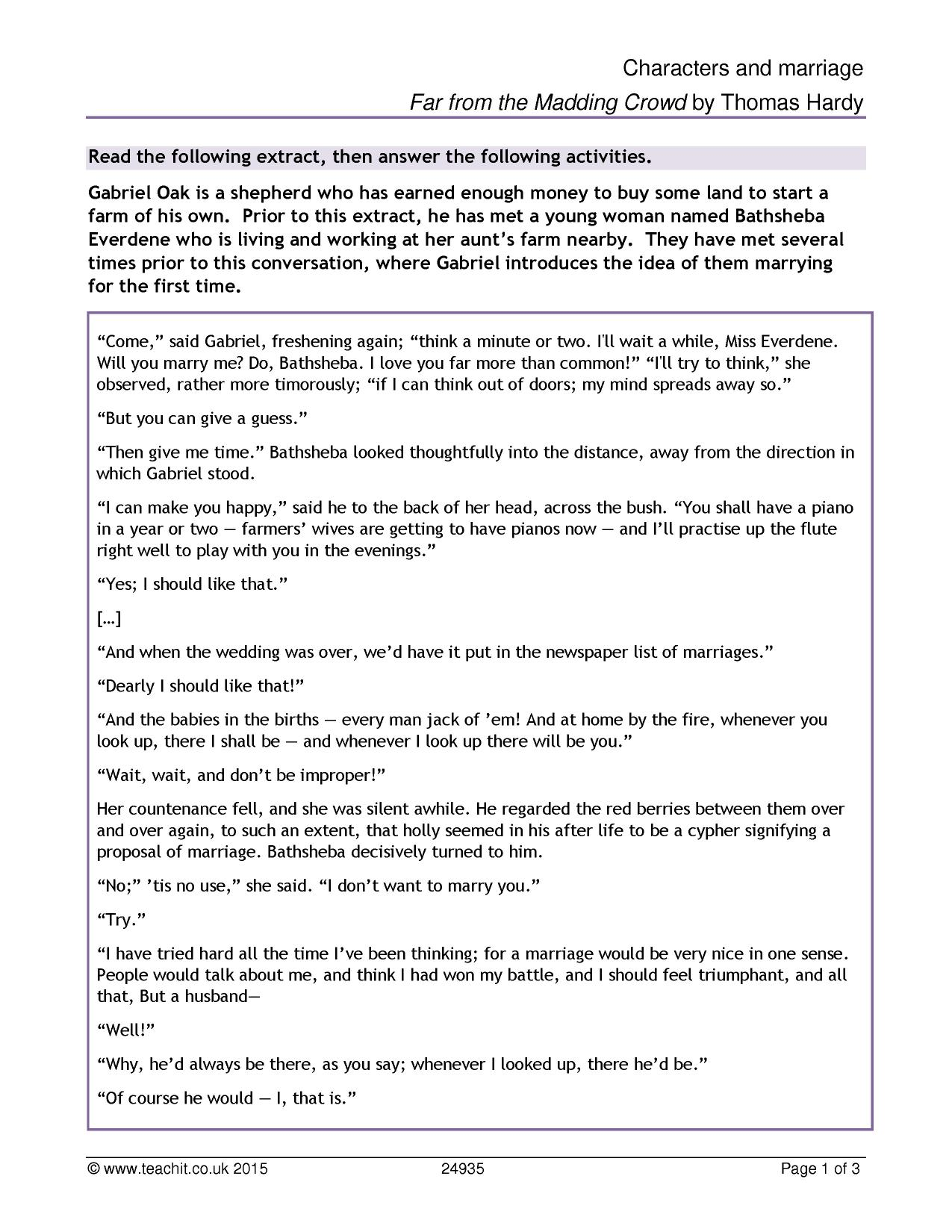 aqa a marriage unseen poem A secondary school revision resource for gcse english literature about the structure and language  language the tone of the poem  language chosen: marriage.