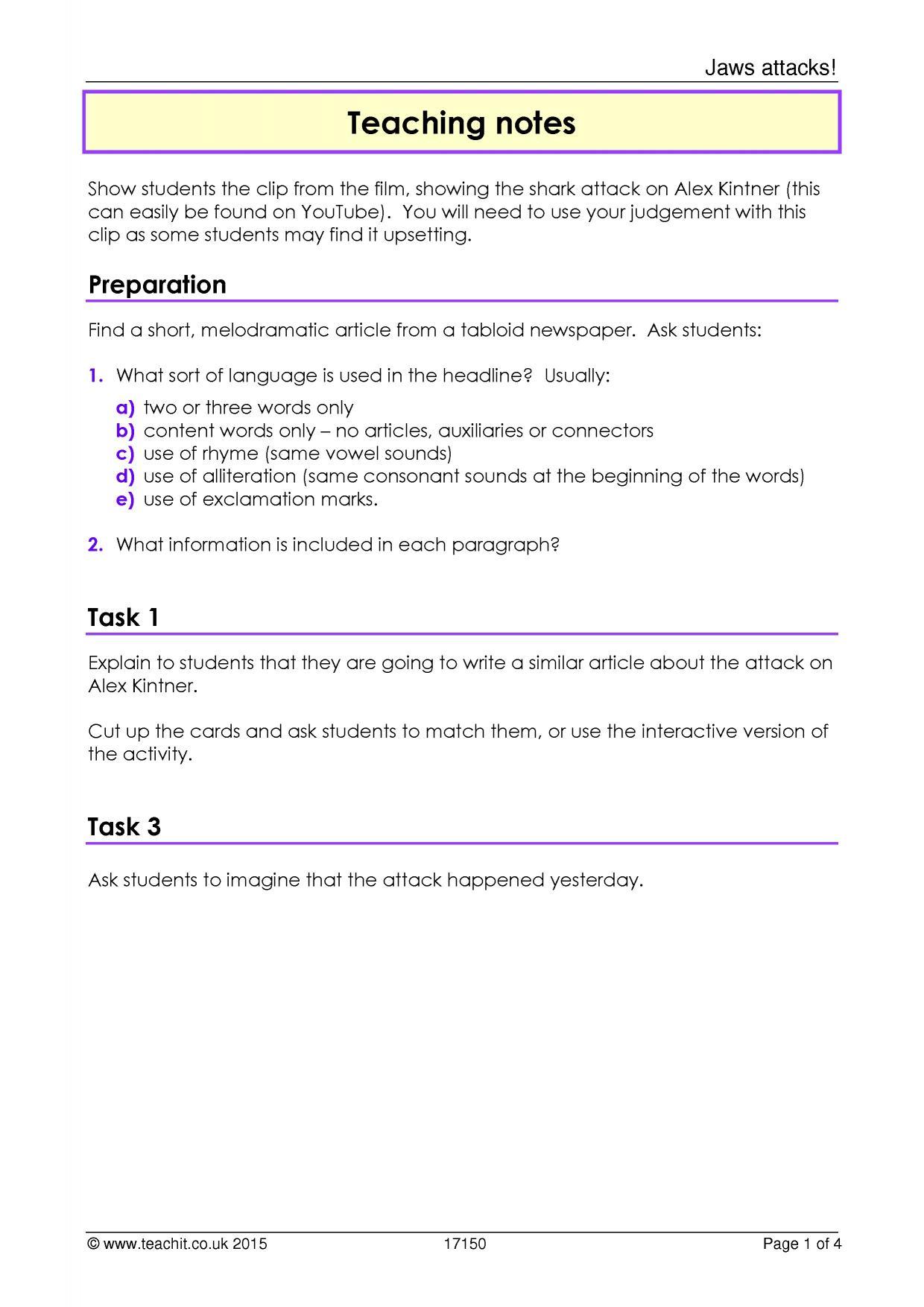 ks3 media texts teachit english