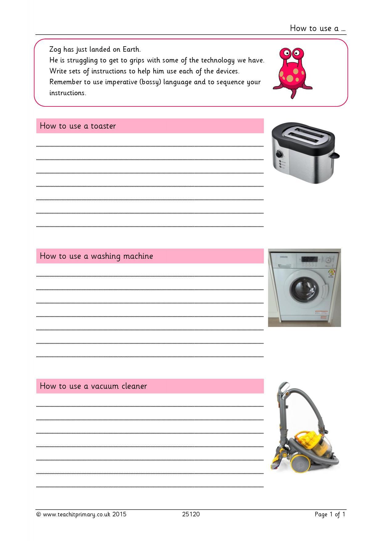 creative writing instructions