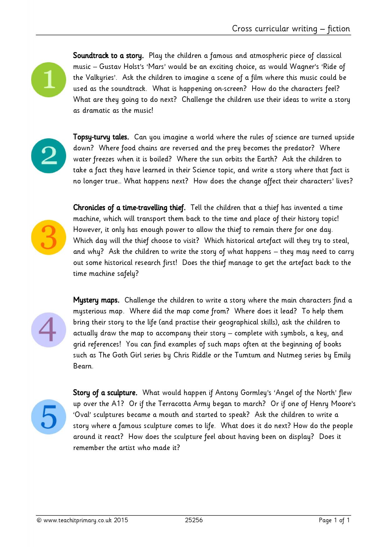 creative writing lesson ideas ks2 Scholastic's story starters kids' writing activity generates creative writing prompts, from general fiction to adventure, fantasy, and science fiction.
