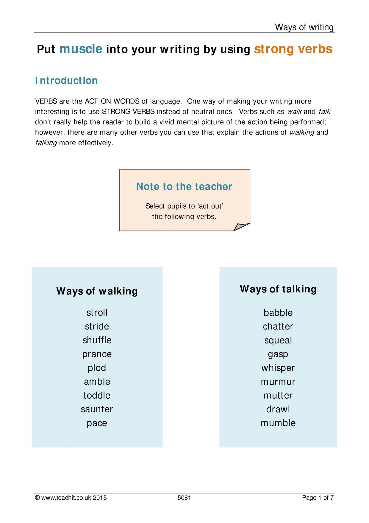 descriptive writing ks3