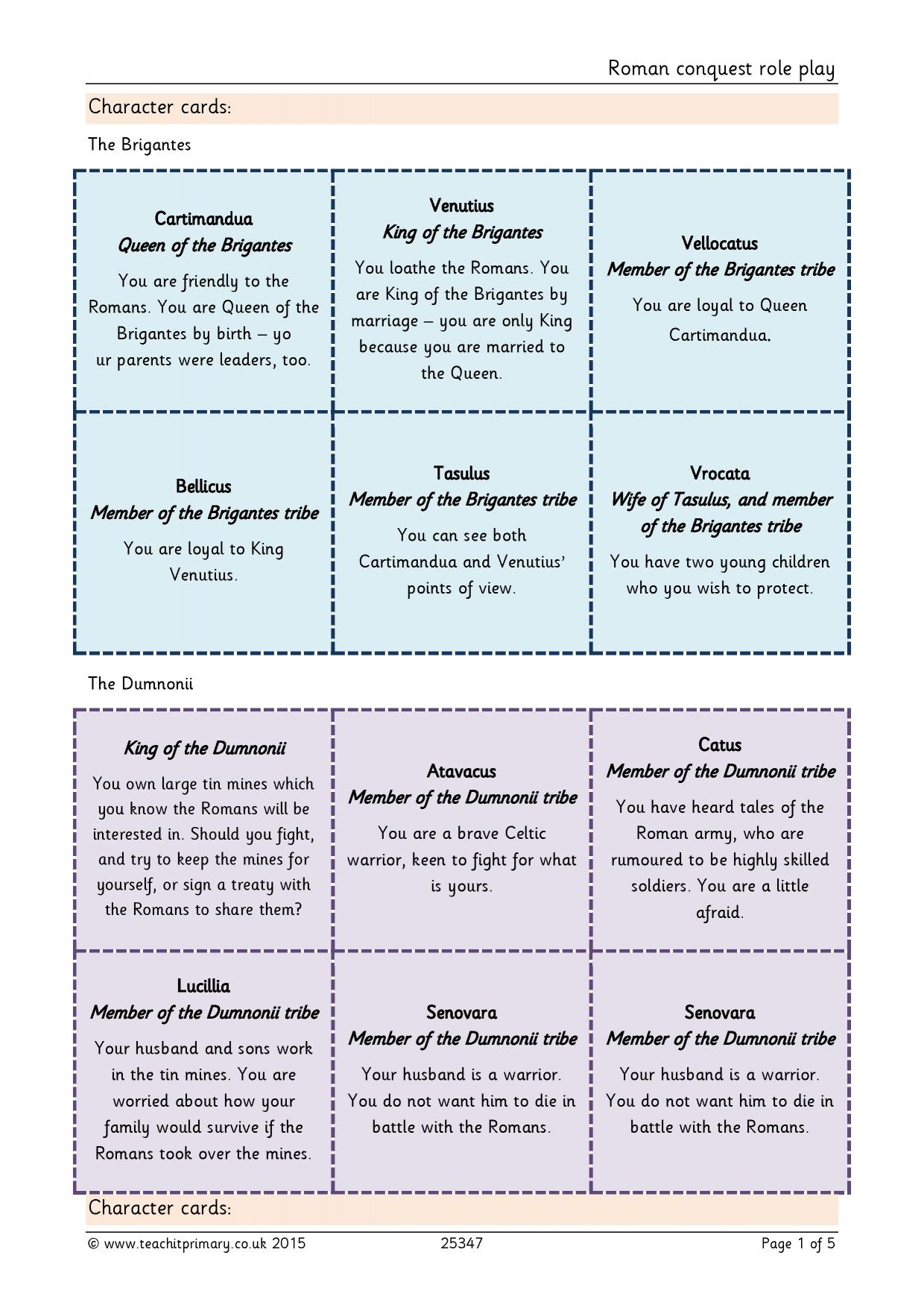 worksheet Boudicca Worksheet romans teachit primary 0 preview