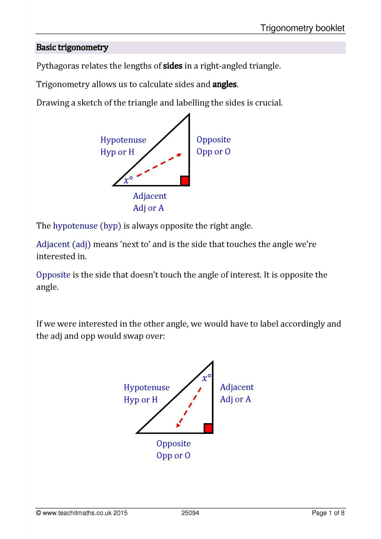Trigonometry rich task of the tasks array ks4 geometry and measure trigonometry u2013 sohcahtoa teachit maths rh teachitmaths fandeluxe Gallery
