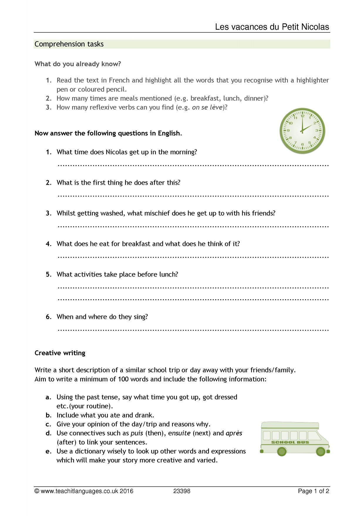 Colons Worksheet Pdf Ks  Reading  Teachit Languages Cell Parts Worksheet with Assertiveness Skills Worksheet Pdf  Preview Ks3 Ict Worksheets Excel