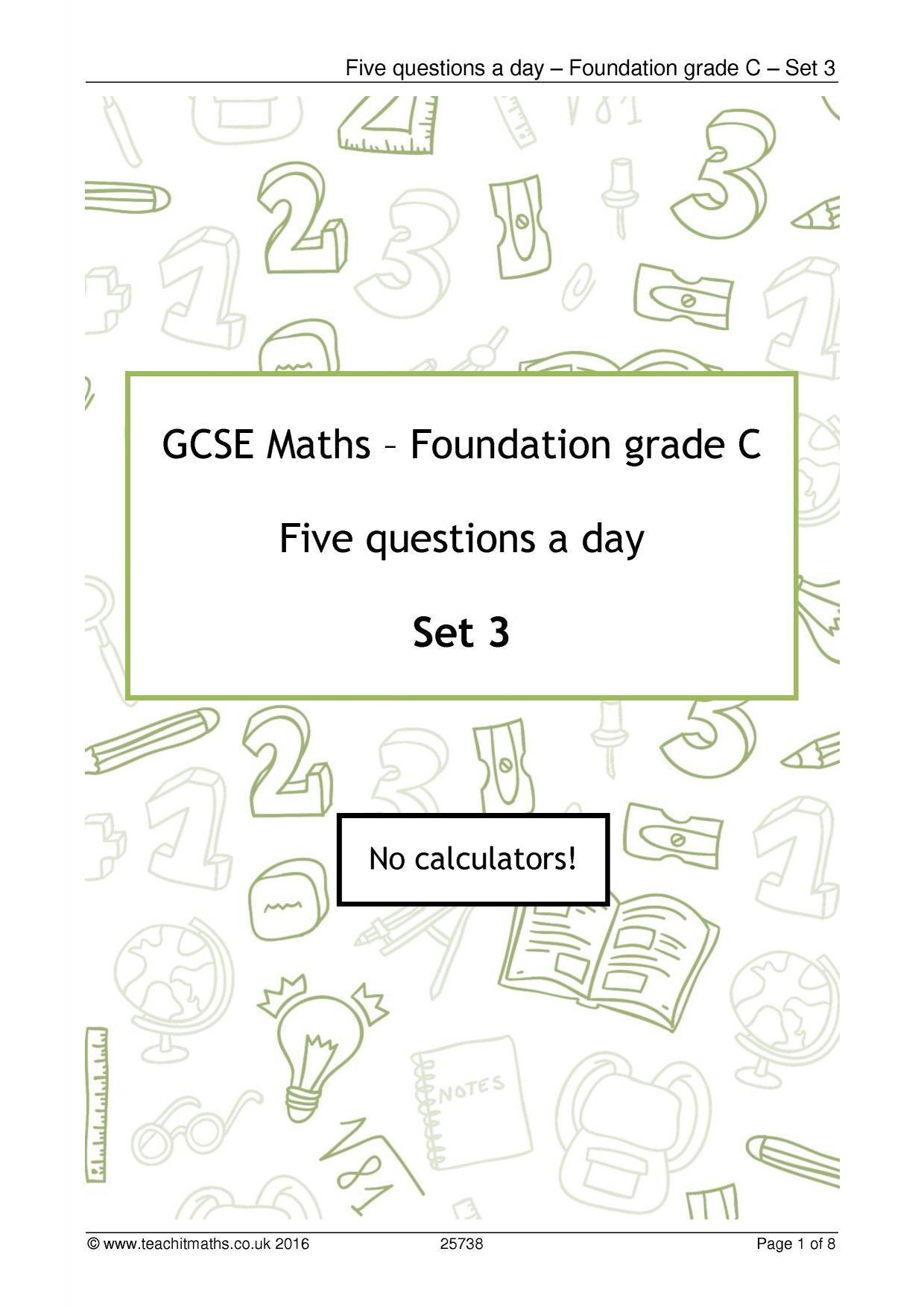 Maths Revision Teaching Resources Teachit Maths